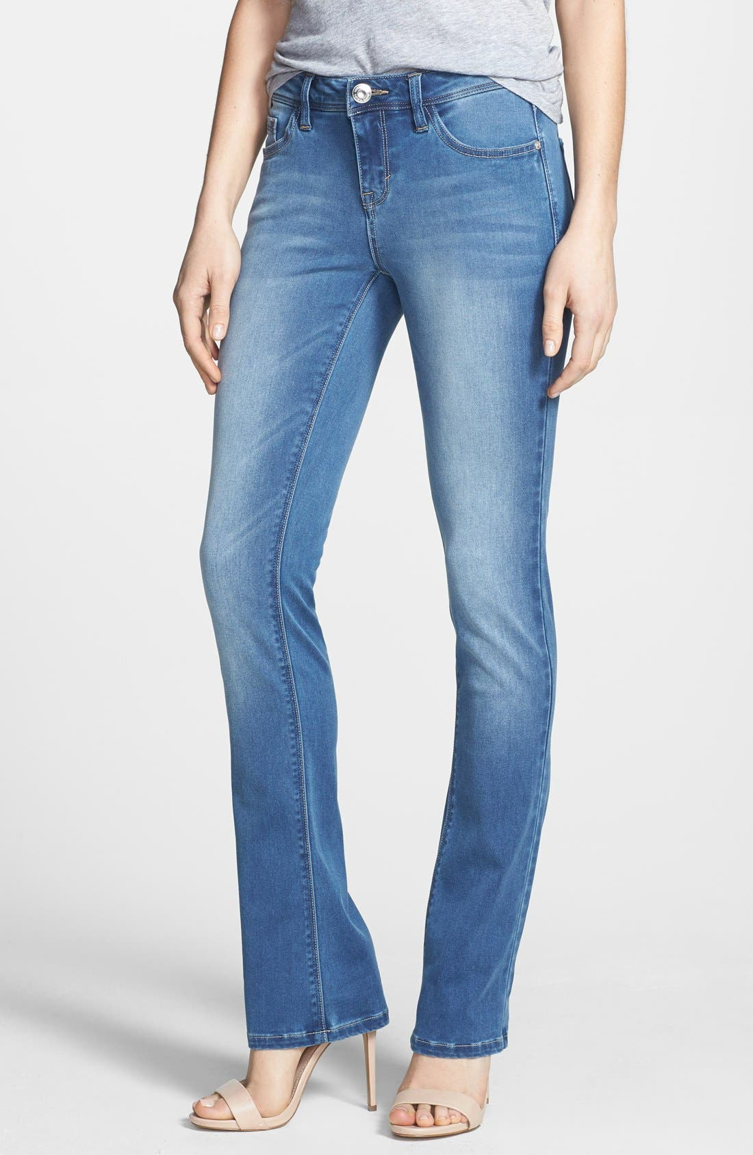 Alternate Image 1 Selected - kensie Skinny Bootcut Jeans (Layla)