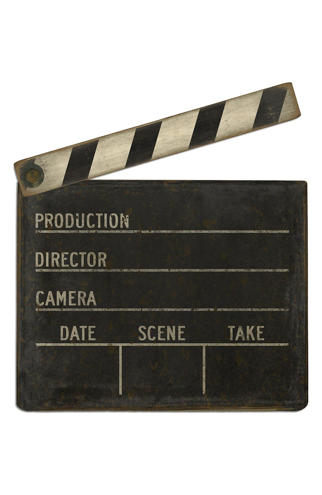 Main Image - Spicher and Company 'Film Clapboard' Vintage Look Wall Art