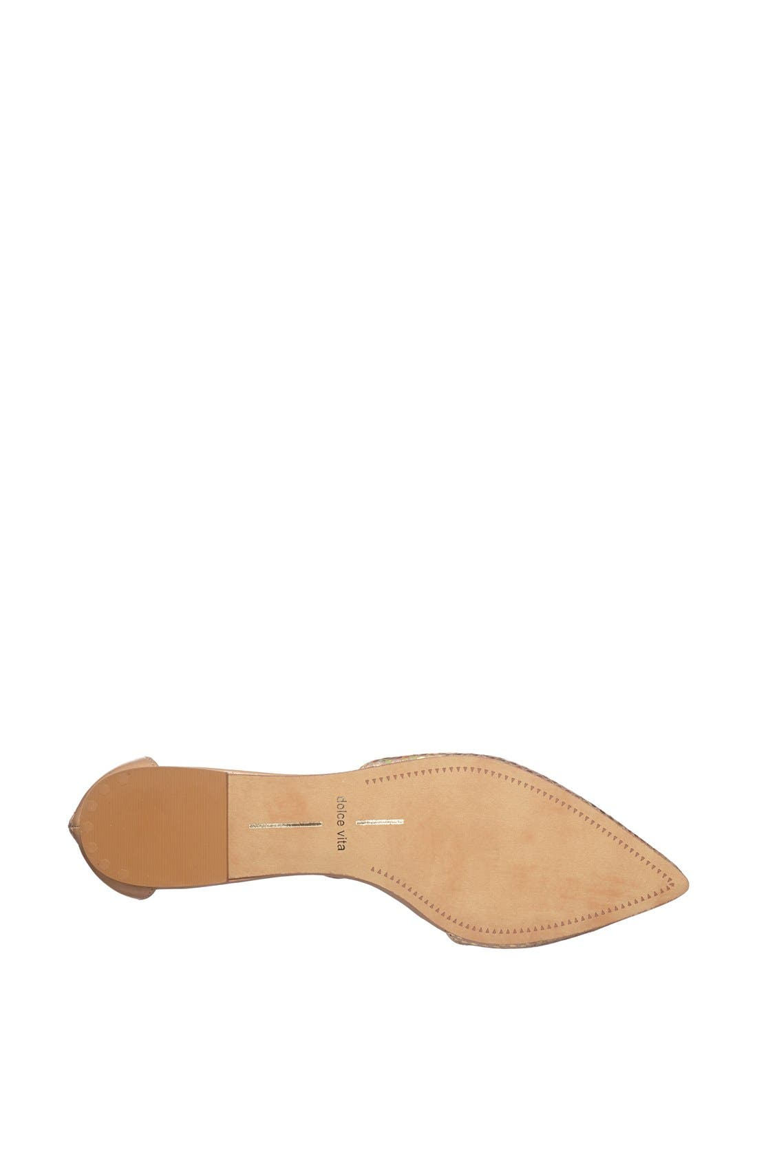 Alternate Image 4  - Dolce Vita 'Agusta' Ankle Strap d'Orsay Flat
