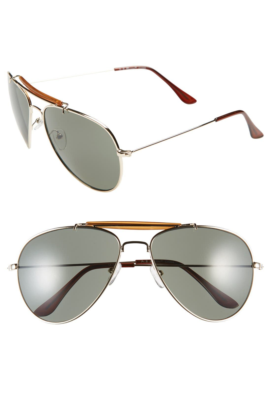 Main Image - A.J. Morgan 'Keith' 60mm Sunglasses
