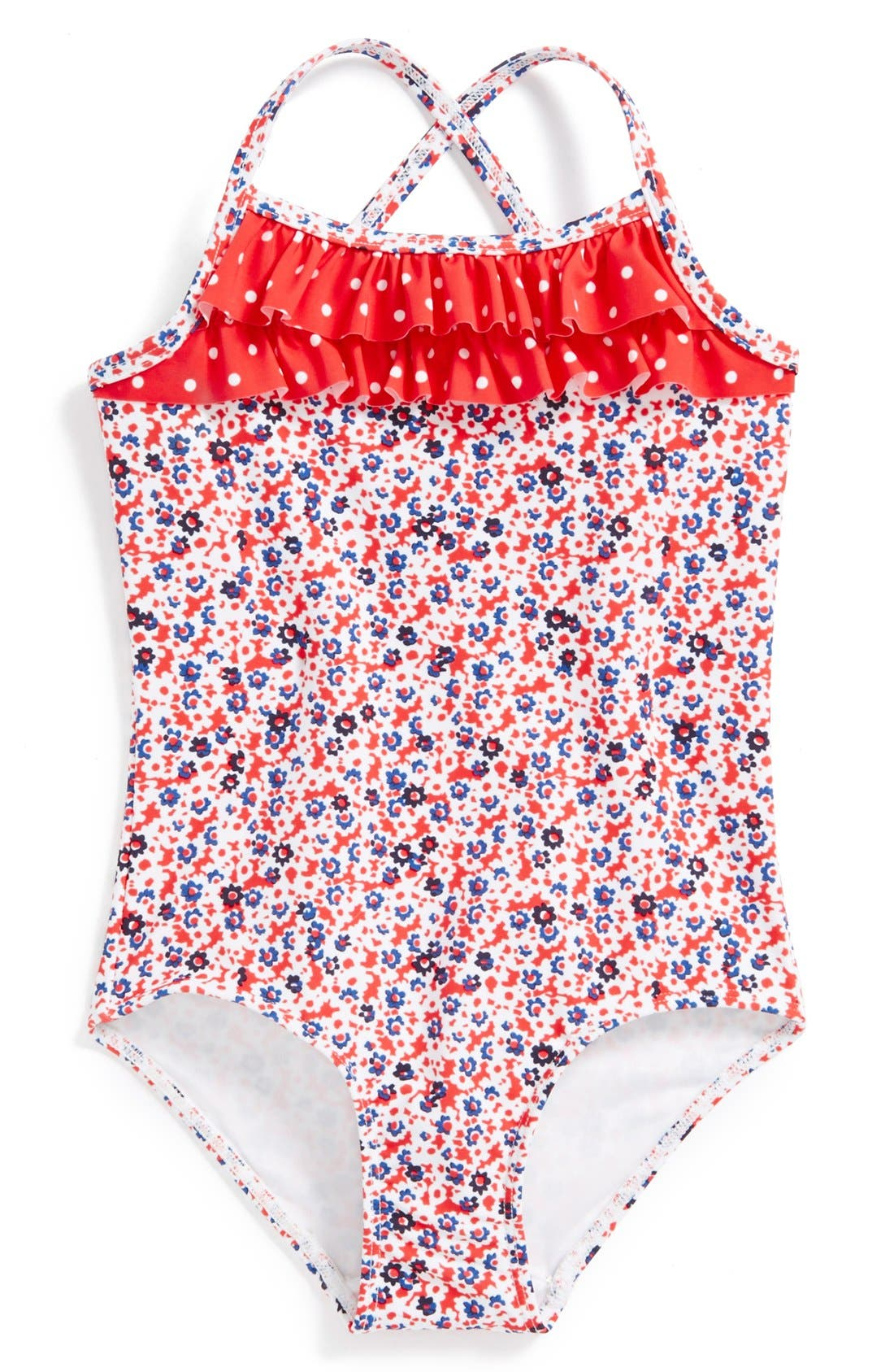 Alternate Image 1 Selected - Tucker + Tate 'Santa Cruz' Ruffle One-Piece Swimsuit (Little Girls & Big Girls)