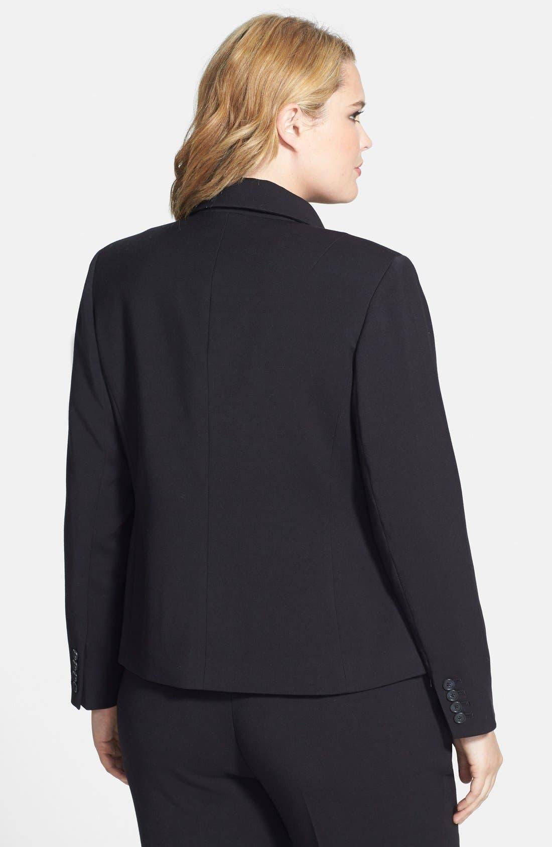 Alternate Image 2  - Anne Klein Side Zip Blazer (Plus Size)