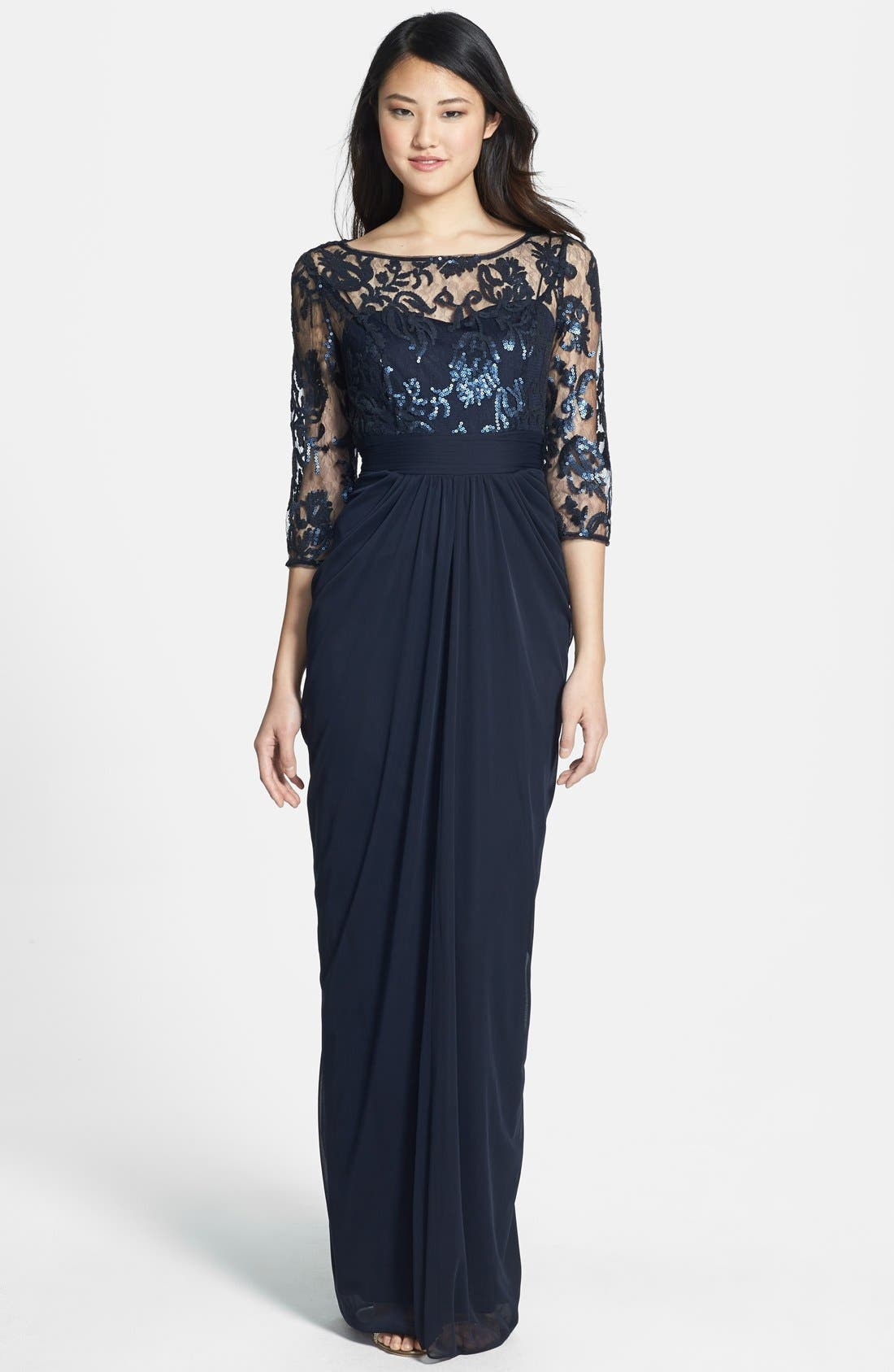Main Image - Adrianna Papell Embellished Lace & Tulle Gown