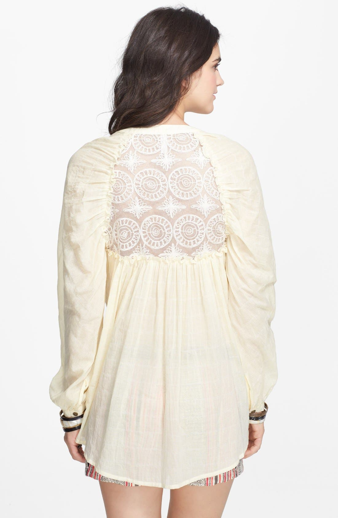 Alternate Image 2  - Free People 'Put Your Back Into It' Lace Back Cotton Shirt