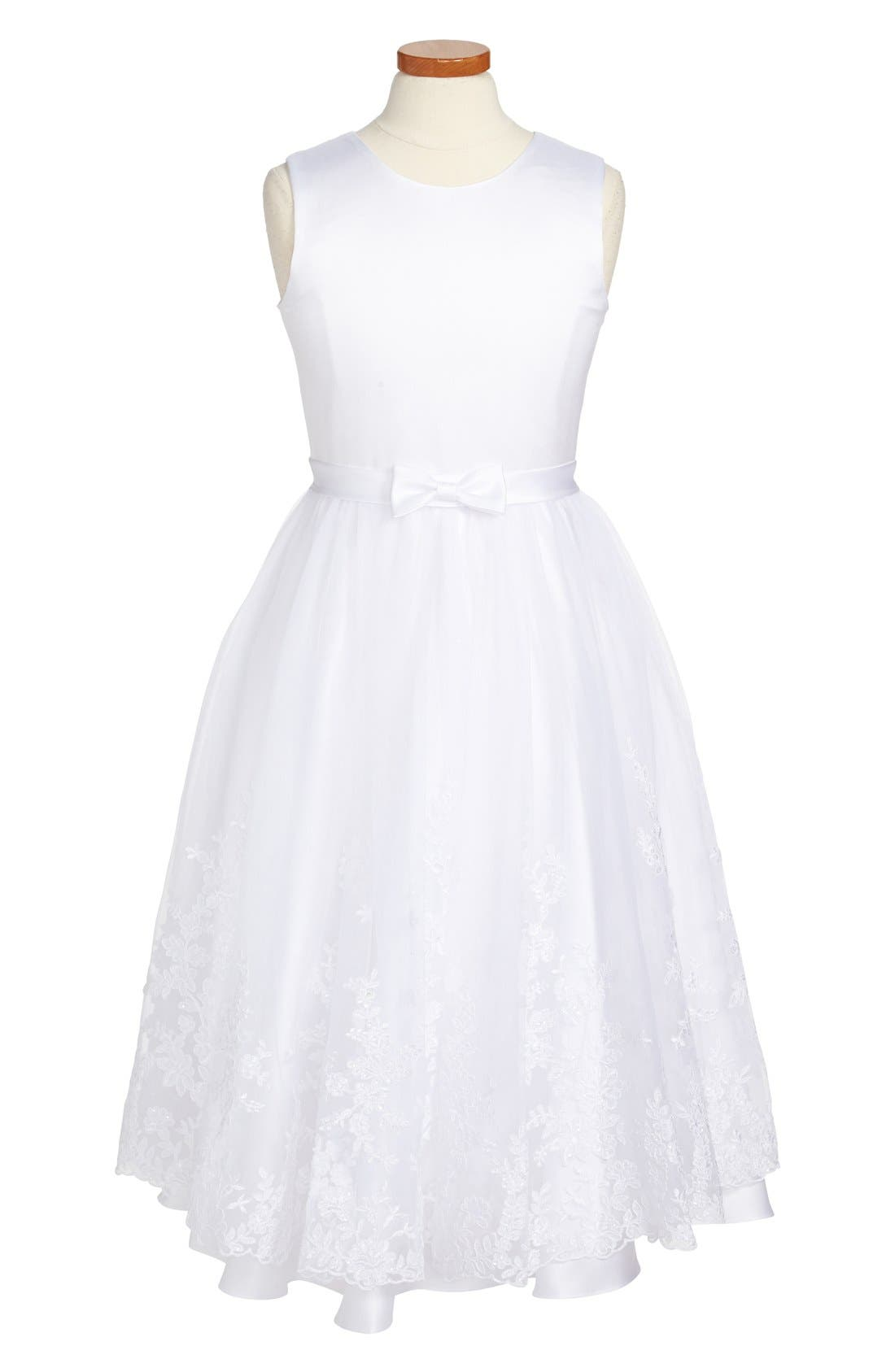 Alternate Image 1 Selected - Joan Calabrese for Mon Cheri First Communion Dress (Big Girls)