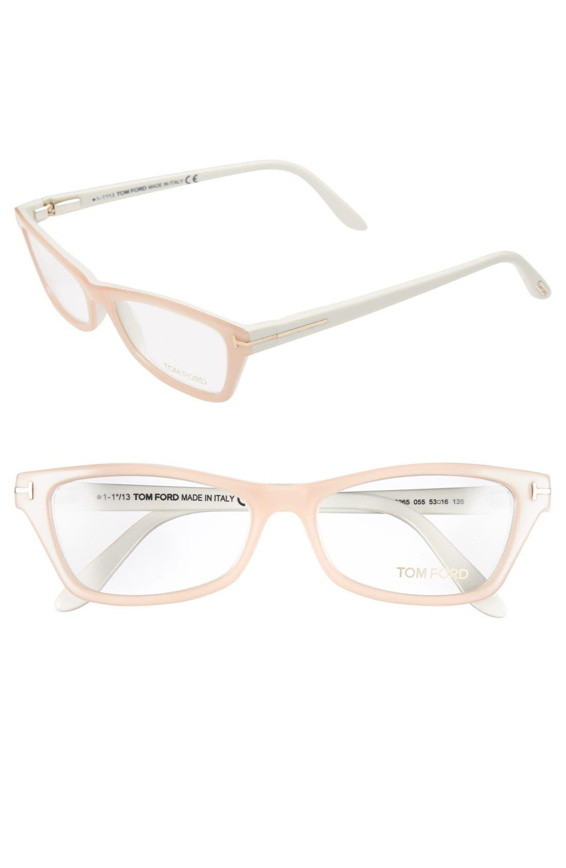 Alternate Image 1 Selected - Tom Ford Cat Eye 53mm Optical Glasses