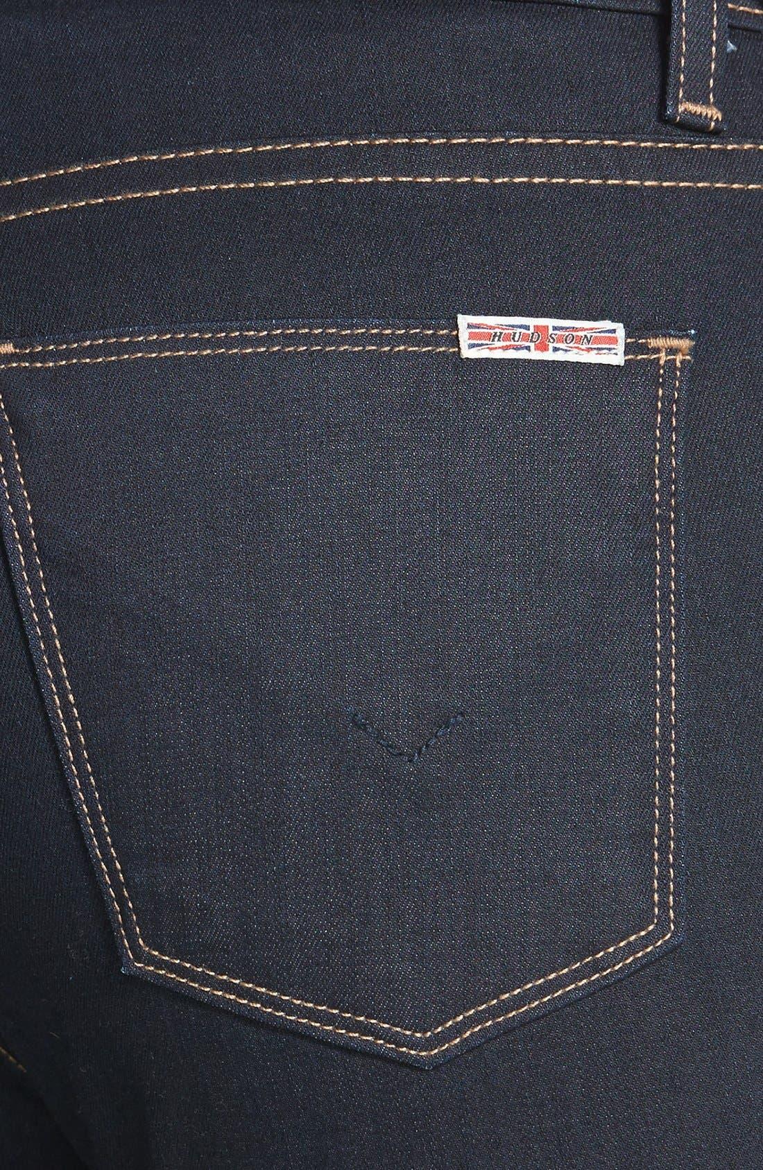 Alternate Image 3  - Hudson Jeans 'Barbara' High Rise Skinny Jeans (Storm)