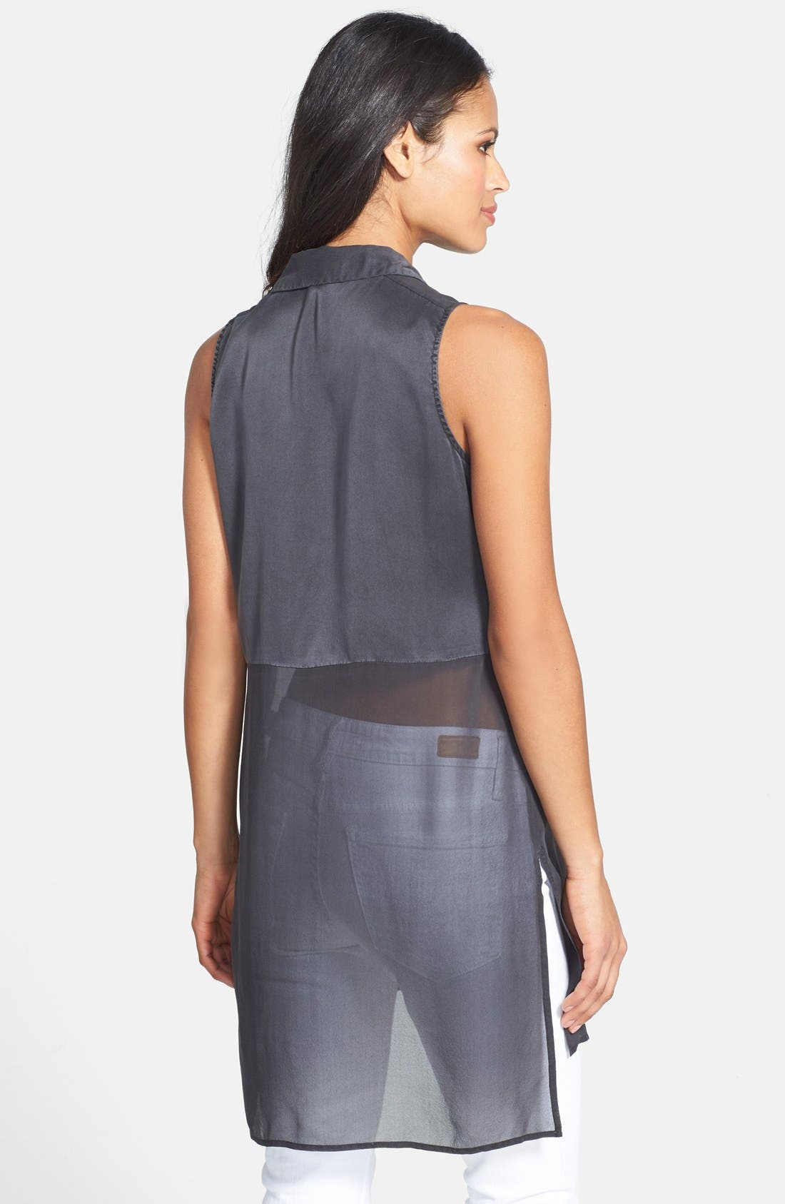 Alternate Image 2  - Eileen Fisher Sleeveless Silk Shirt