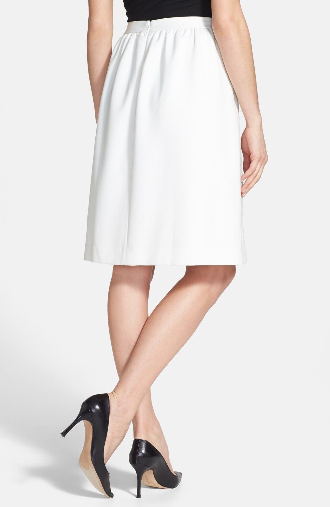 Alternate Image 2  - Chelsea28 Shirred Woven Skirt