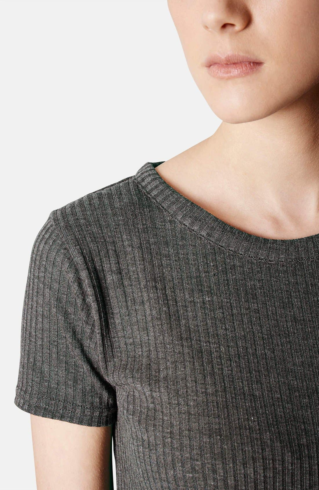 Alternate Image 4  - Topshop Ribbed Jersey Tunic Tee