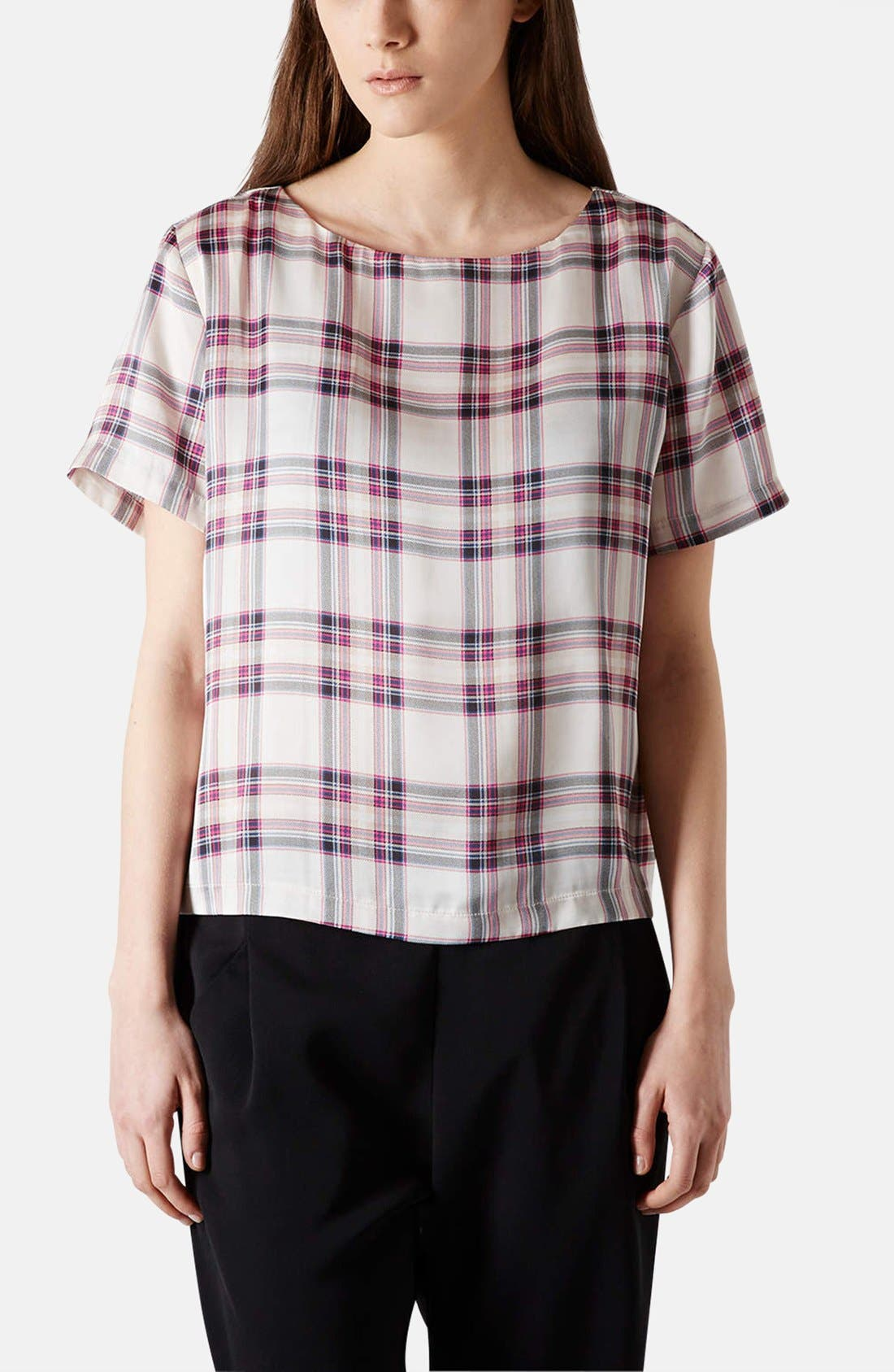 Alternate Image 1 Selected - Topshop 'Summer Check' Print Tee