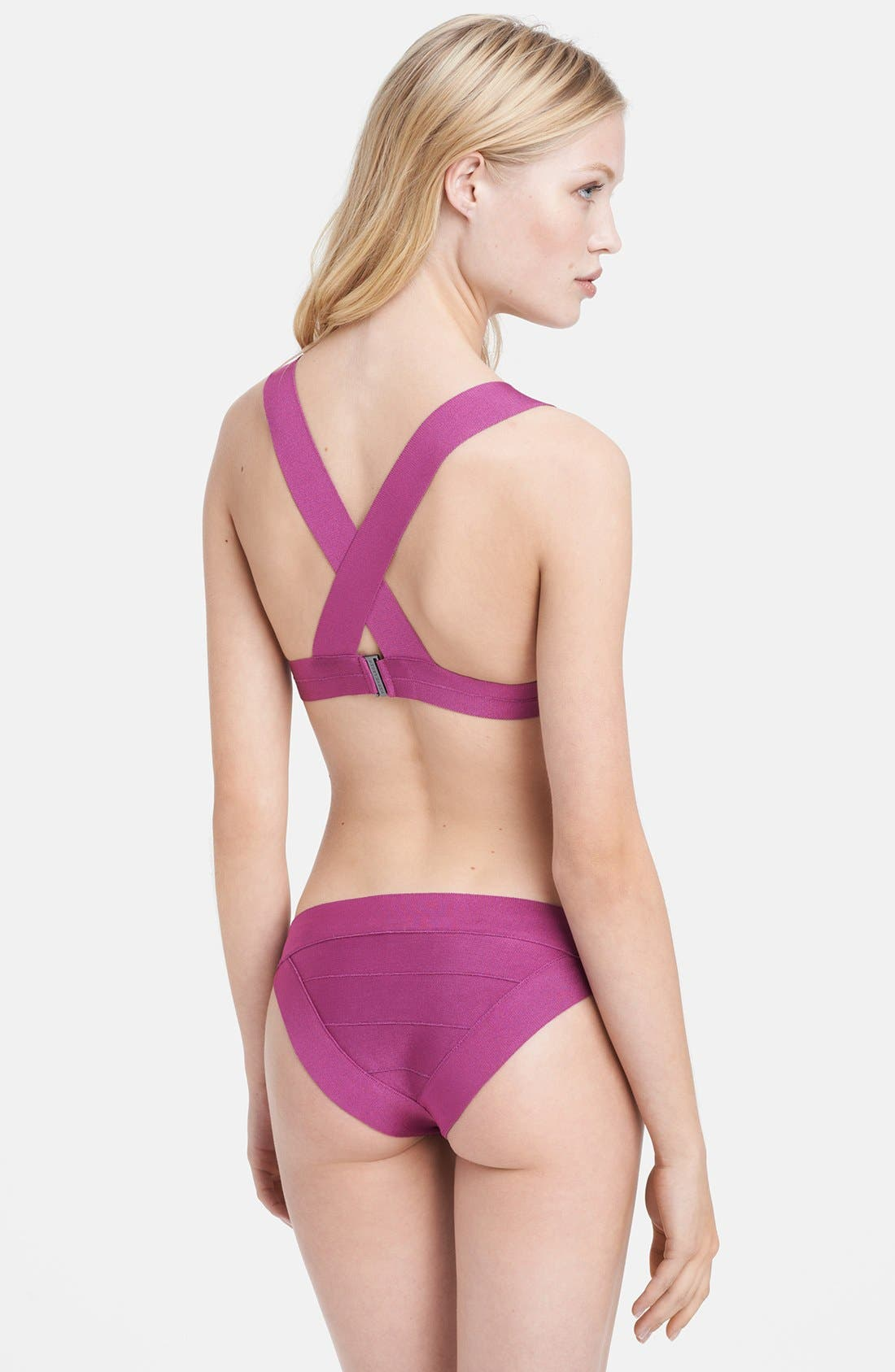 Alternate Image 2  - Herve Leger Cross Back Bandage Two-Piece Bikini