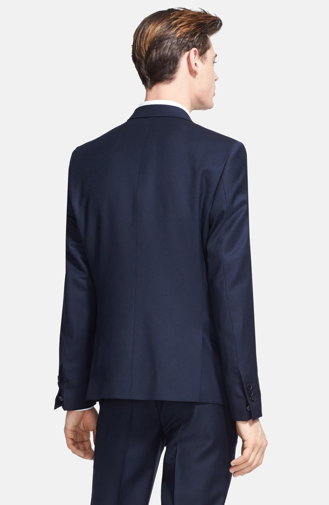 Alternate Image 2  - The Kooples Fitted Navy Wool Sportcoat