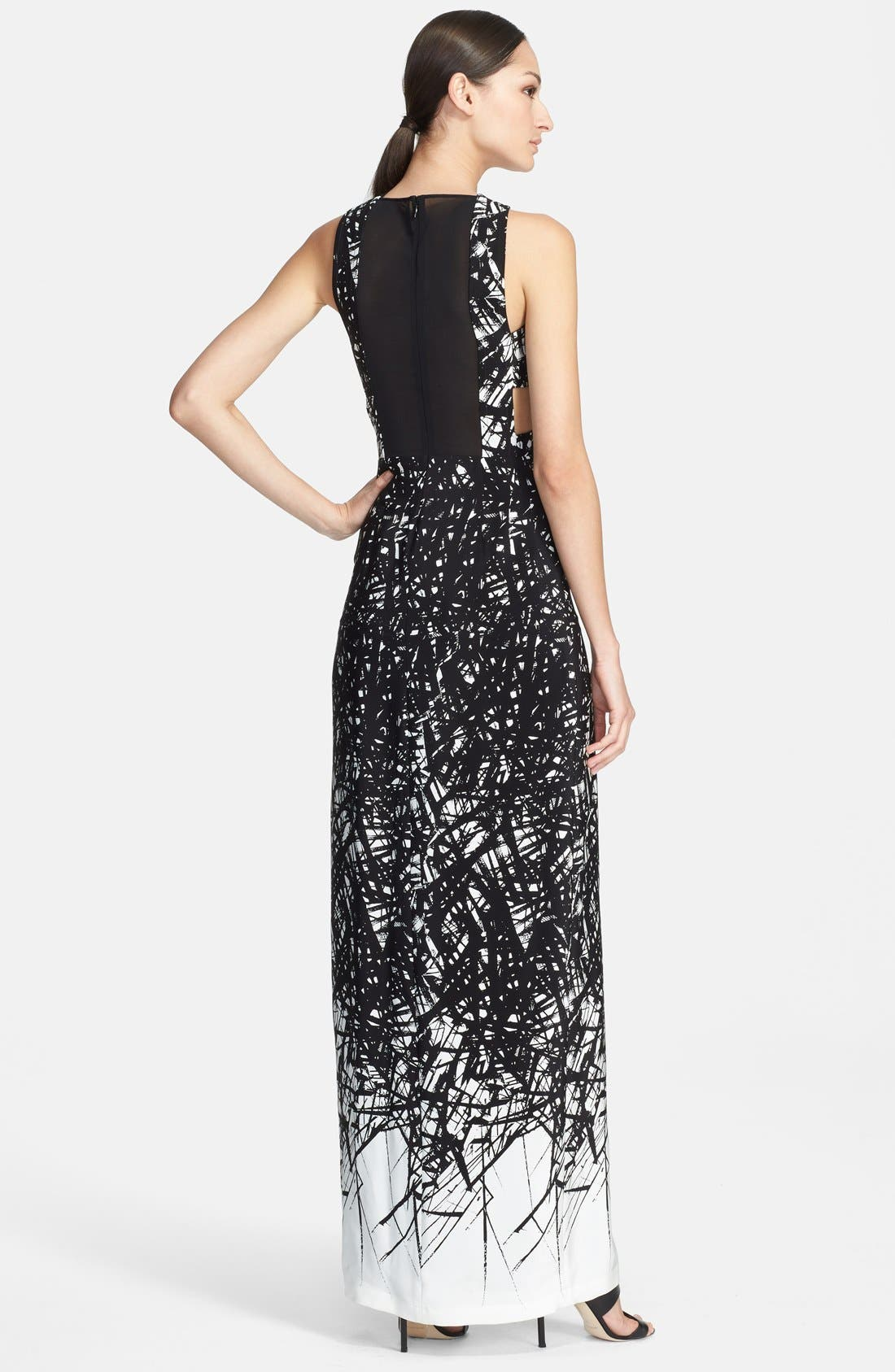 Alternate Image 2  - Yigal Azrouël Print Silk Knit Gown