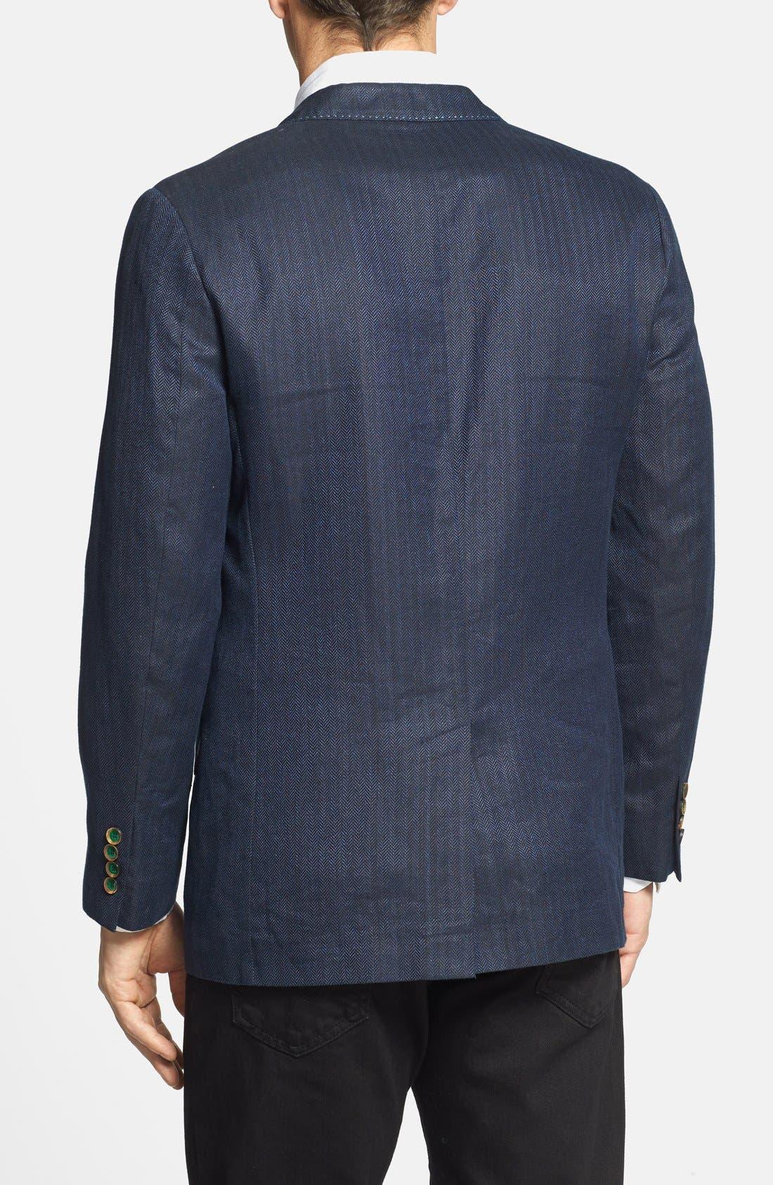 Alternate Image 2  - Robert Graham 'Campbell' Linen Blend Sportcoat