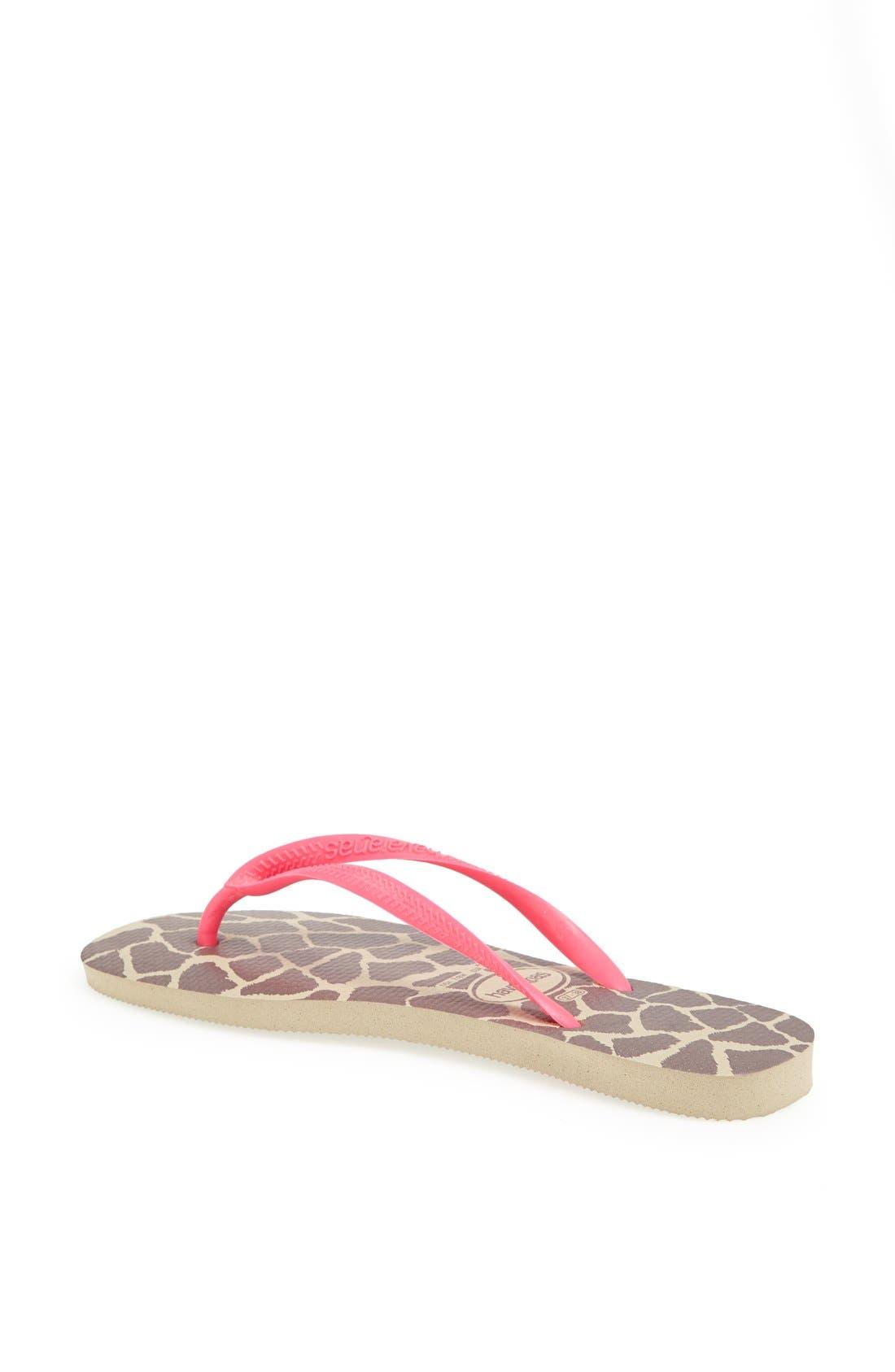 Alternate Image 2  - Havaianas 'Slim Fluorescent Animal' Sandal (Women)