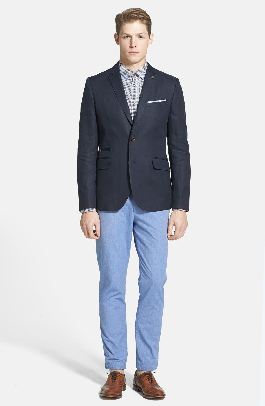 Alternate Image 4  - Ted Baker London 'Mayhim' Slim Fit Chino Trousers