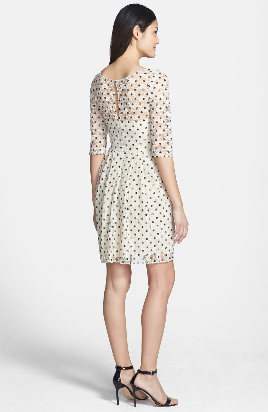 Alternate Image 2  - Betsey Johnson Lace Dot Fit & Flare Dress