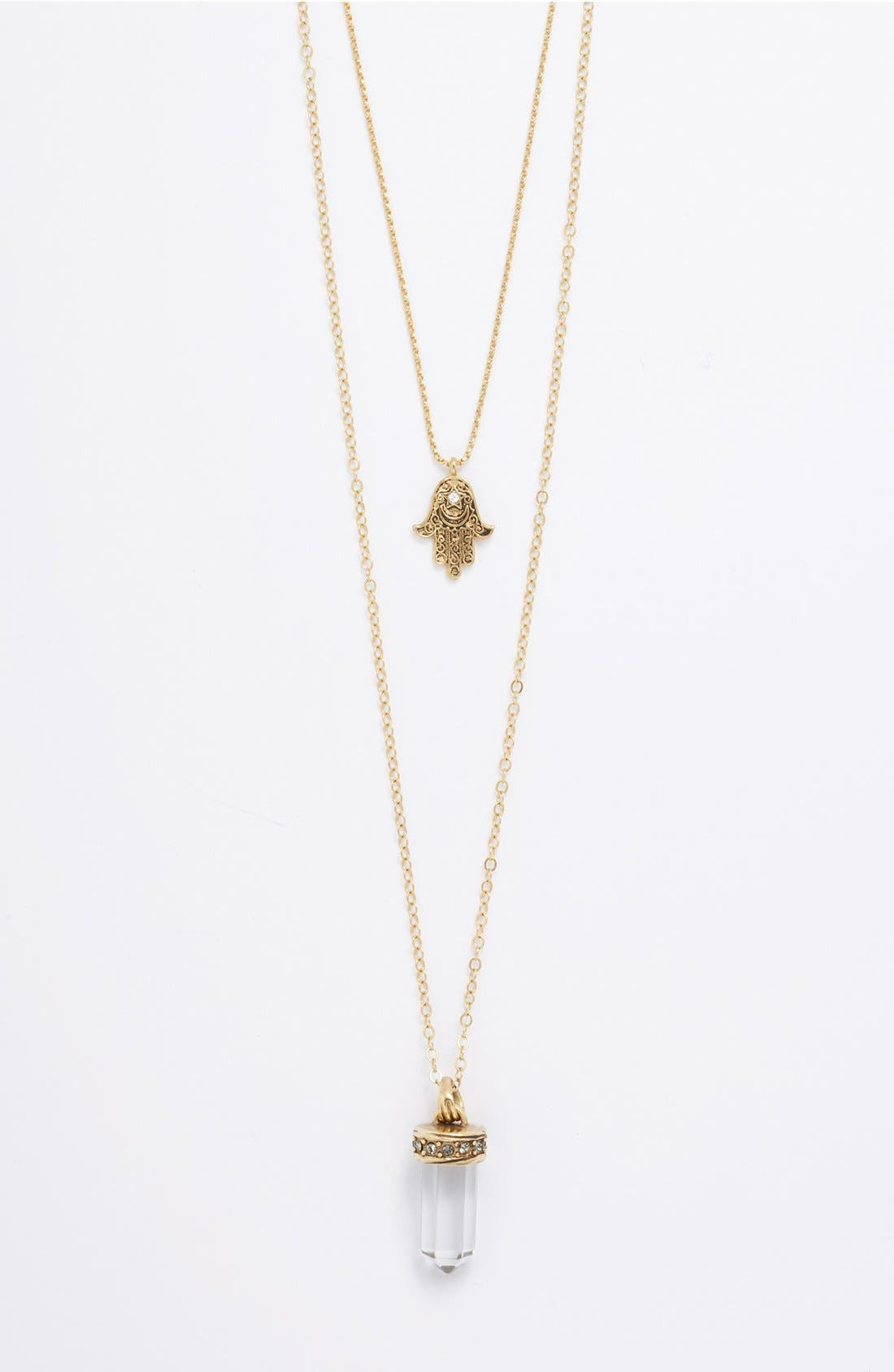 Alternate Image 1 Selected - Nordstrom Multistrand Hamsa Pendant Necklace