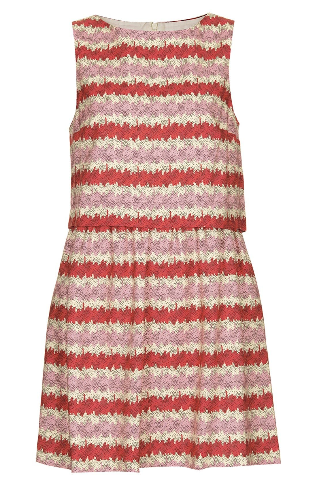 Alternate Image 3  - Topshop 'Kiwi Stripe' Print Crop Bodice Dress