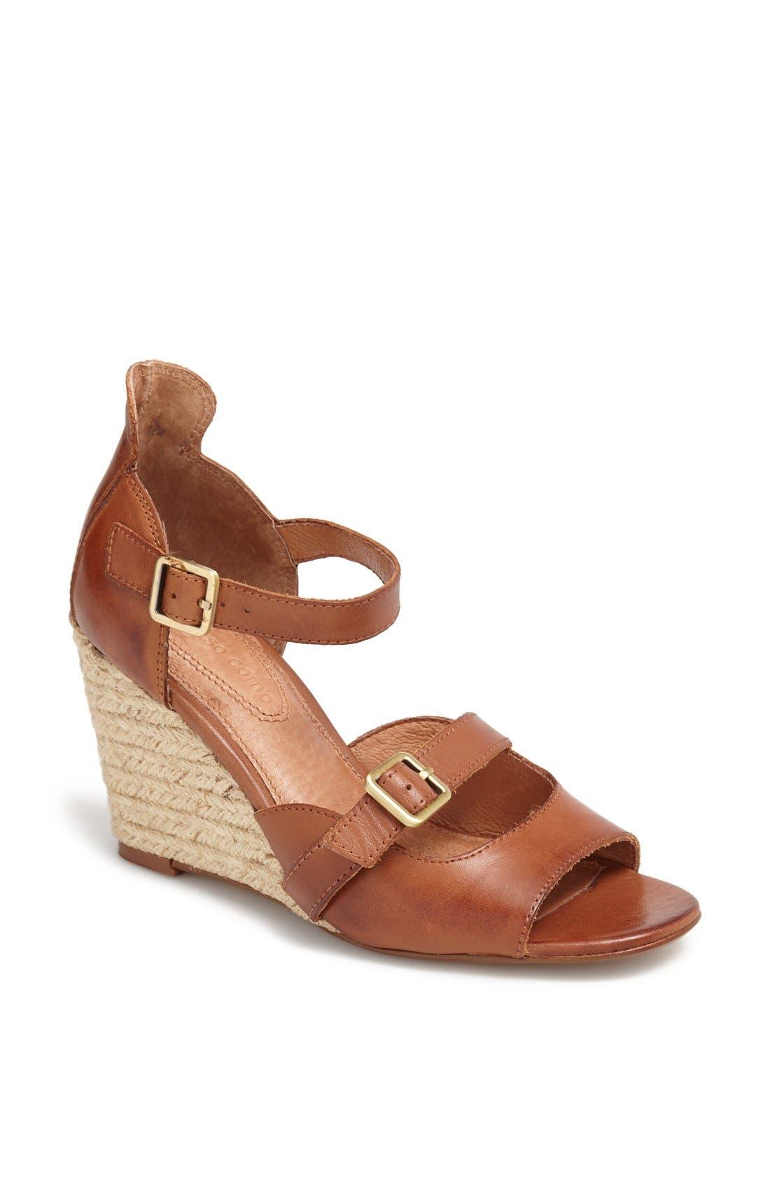 Alternate Image 1 Selected - Corso Como 'Hello' Calfskin Leather Sandal