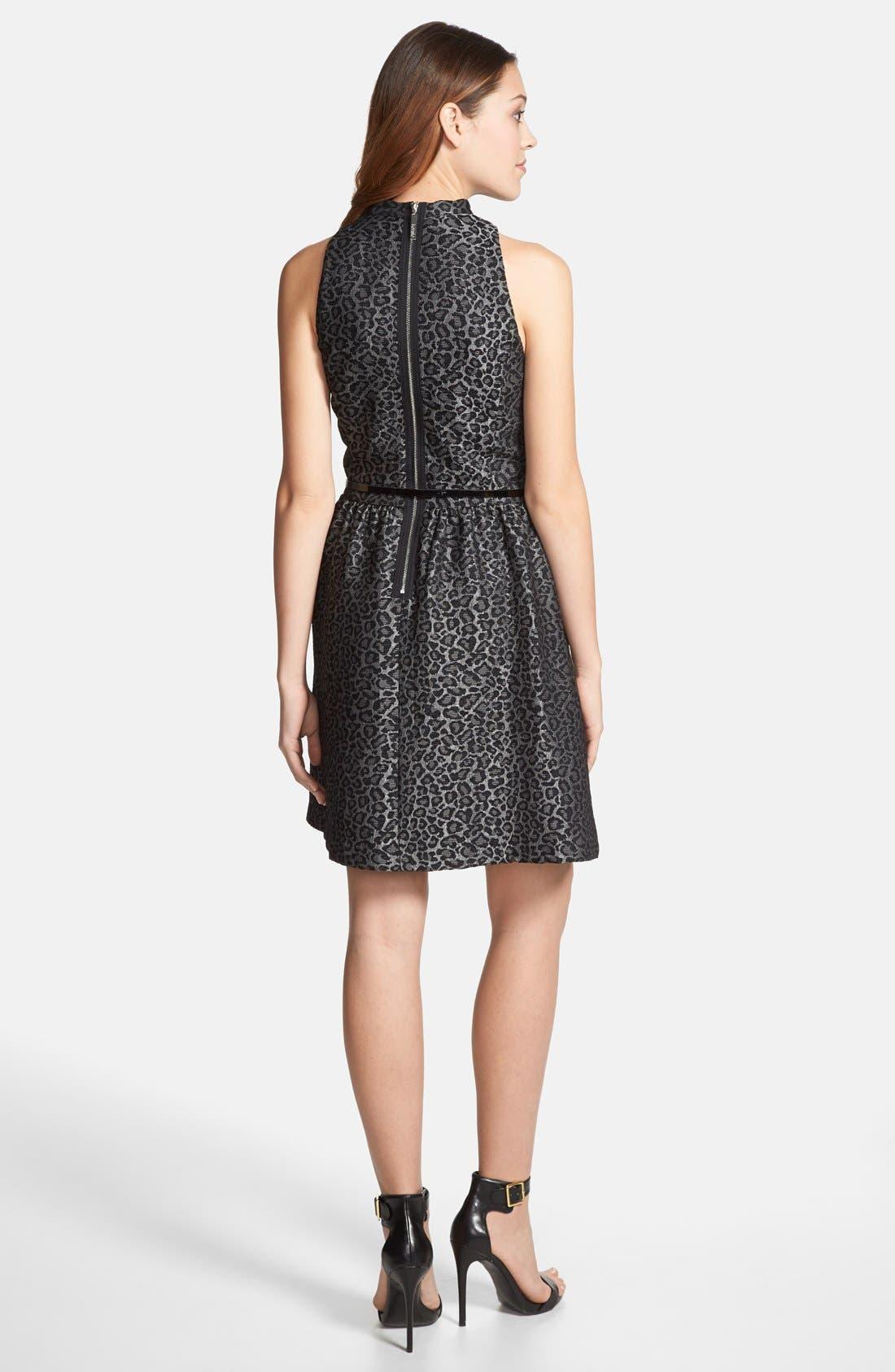 Alternate Image 2  - kensie Animal Brocade Sleeveless Dress