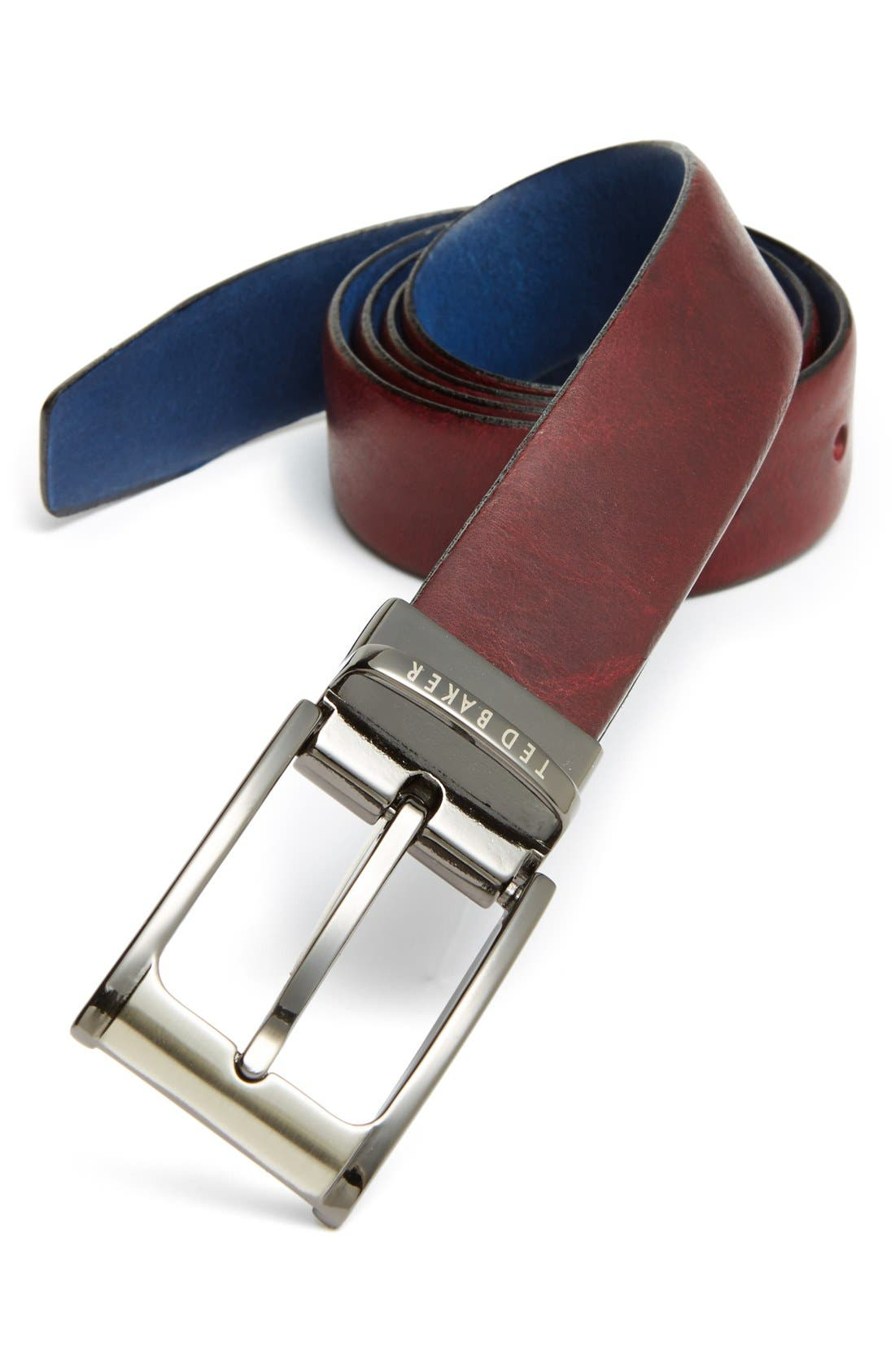 Alternate Image 1 Selected - Ted Baker London 'Highlight' Reversible Leather Belt