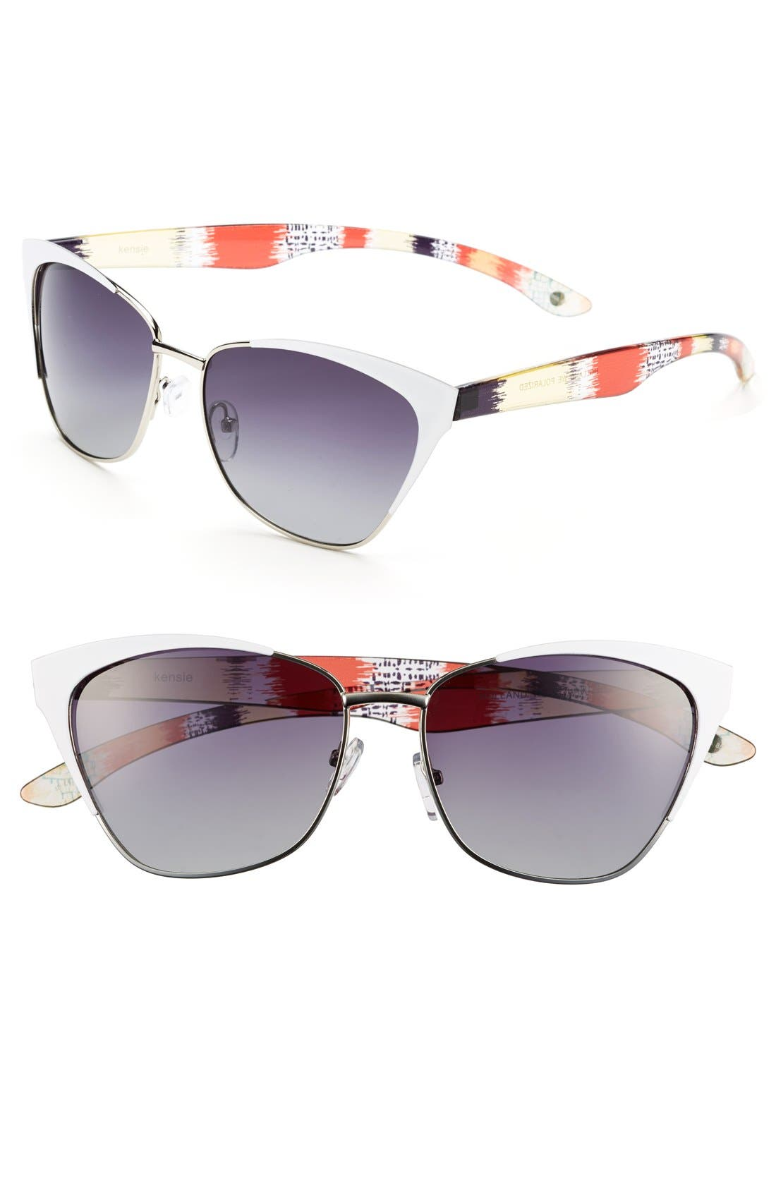 Main Image - kensie 'Holland' 57mm Polarized Cat Eye Sunglasses