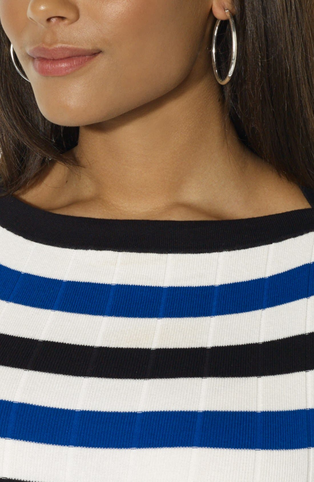 Alternate Image 3  - Lauren Ralph Lauren Short Sleeve Boatneck Sweater (Plus Size)