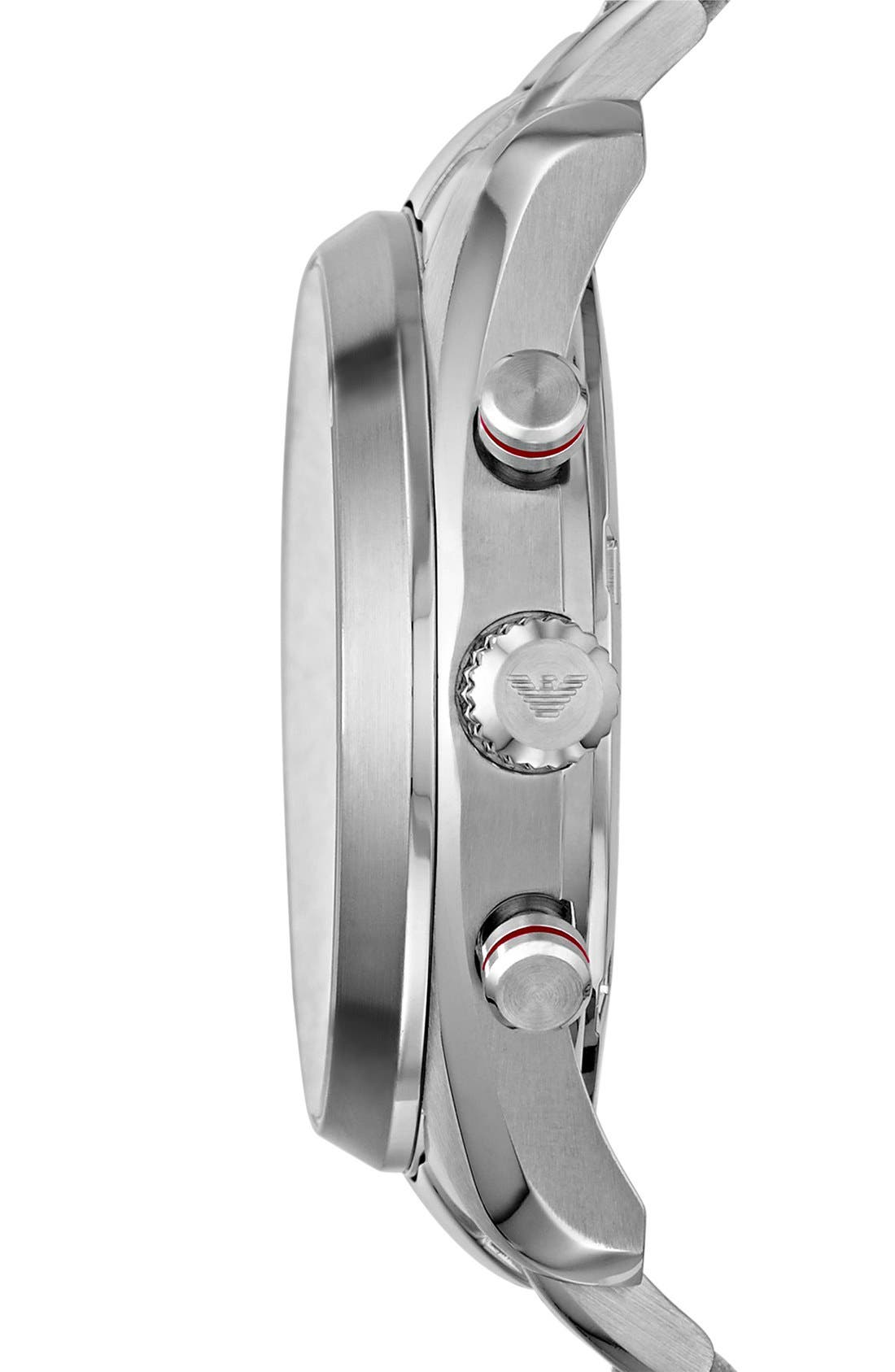 Alternate Image 2  - Emporio Armani Chronograph Bracelet Watch, 43mm