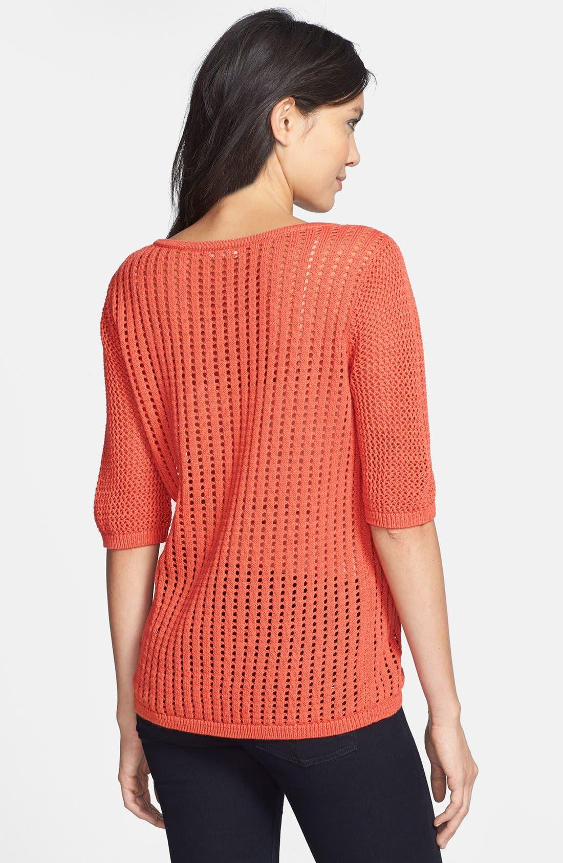 Alternate Image 2  - Hinge® Mix Knit Sweater