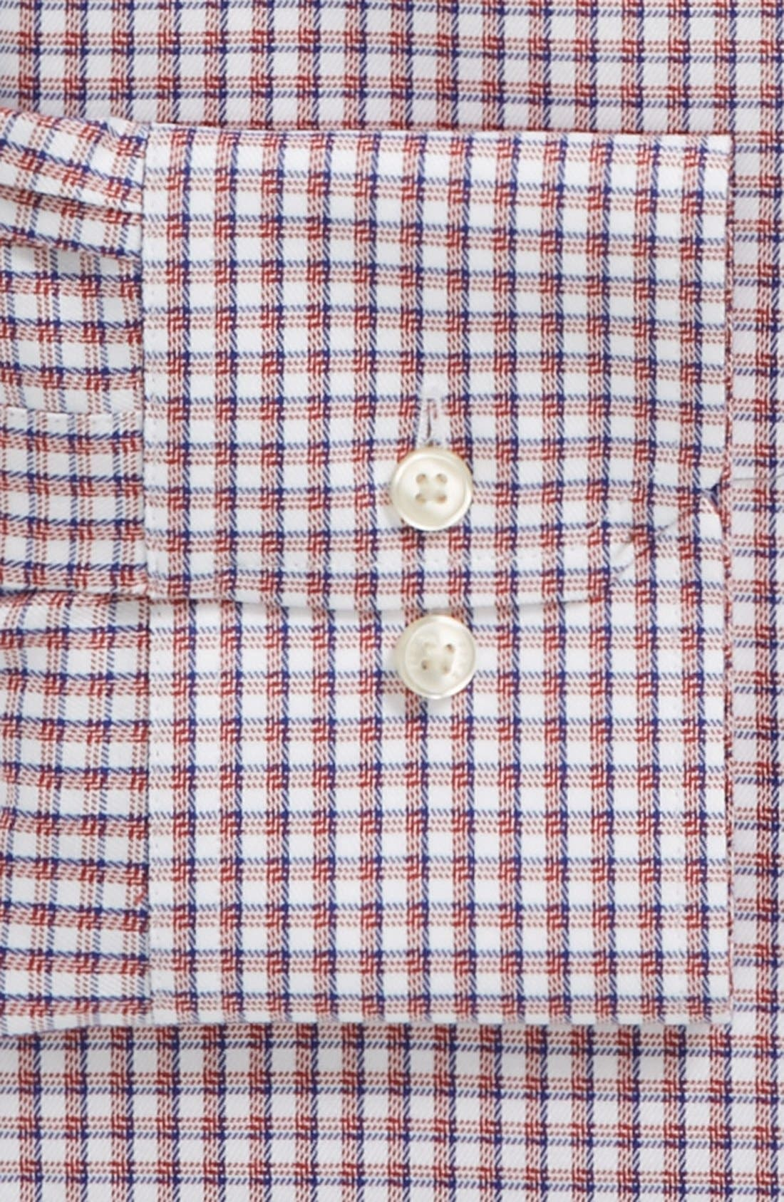 Alternate Image 2  - Thomas Pink 'Cantwell' Slim Fit Traveler Check Non-Iron Dress Shirt