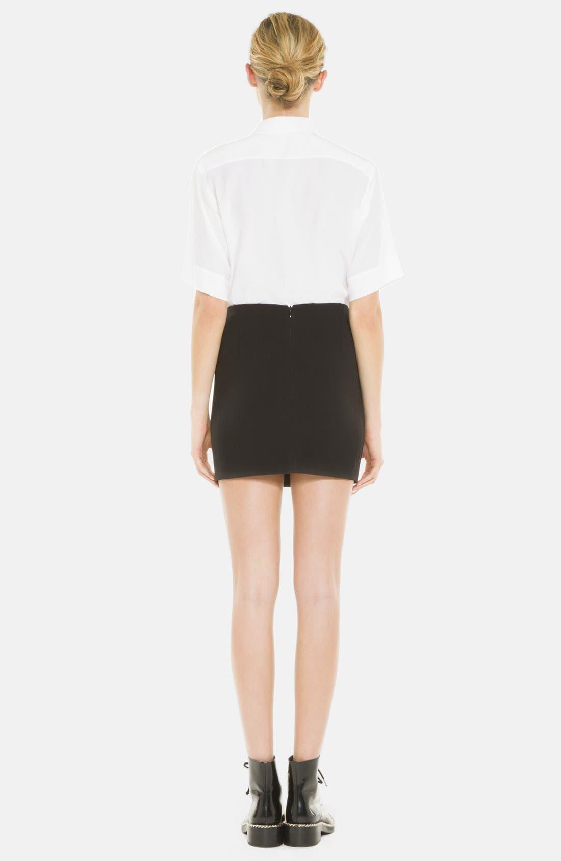 Alternate Image 2  - sandro 'Joyau' Leather & Chain Detail Skirt