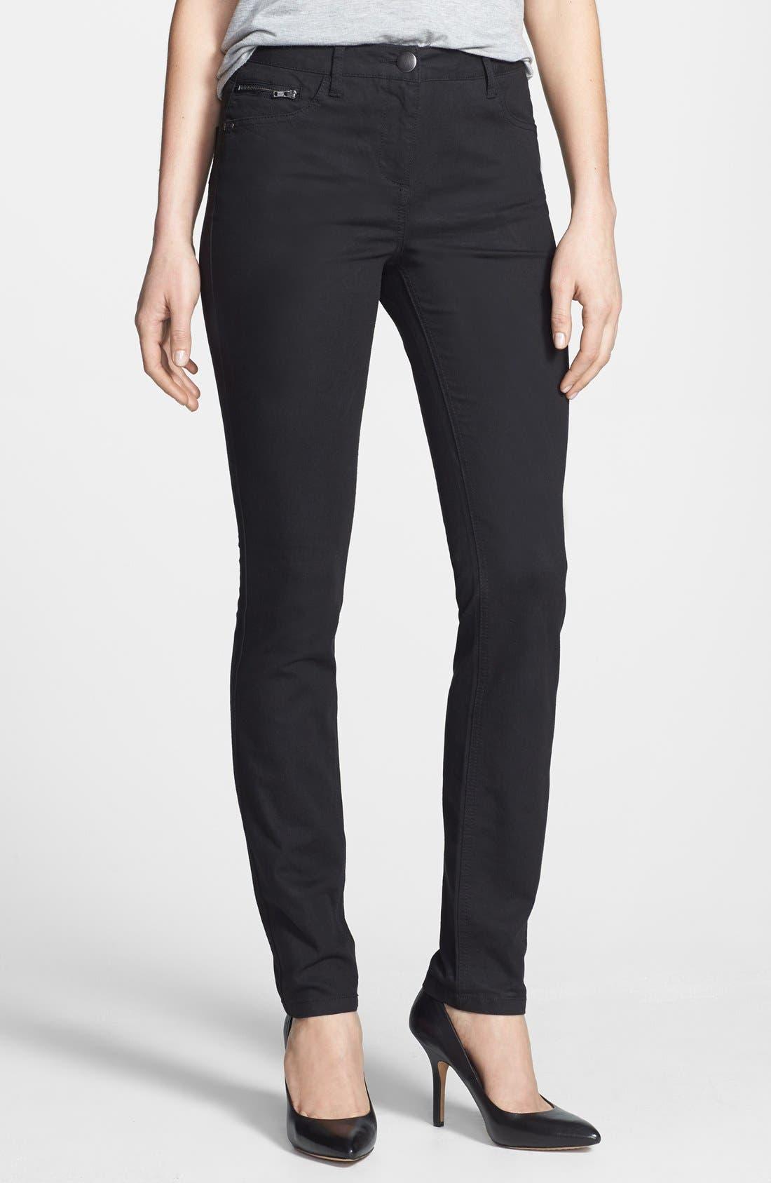 Alternate Image 1 Selected - Wallis Stretch Skinny Jeans (Black)