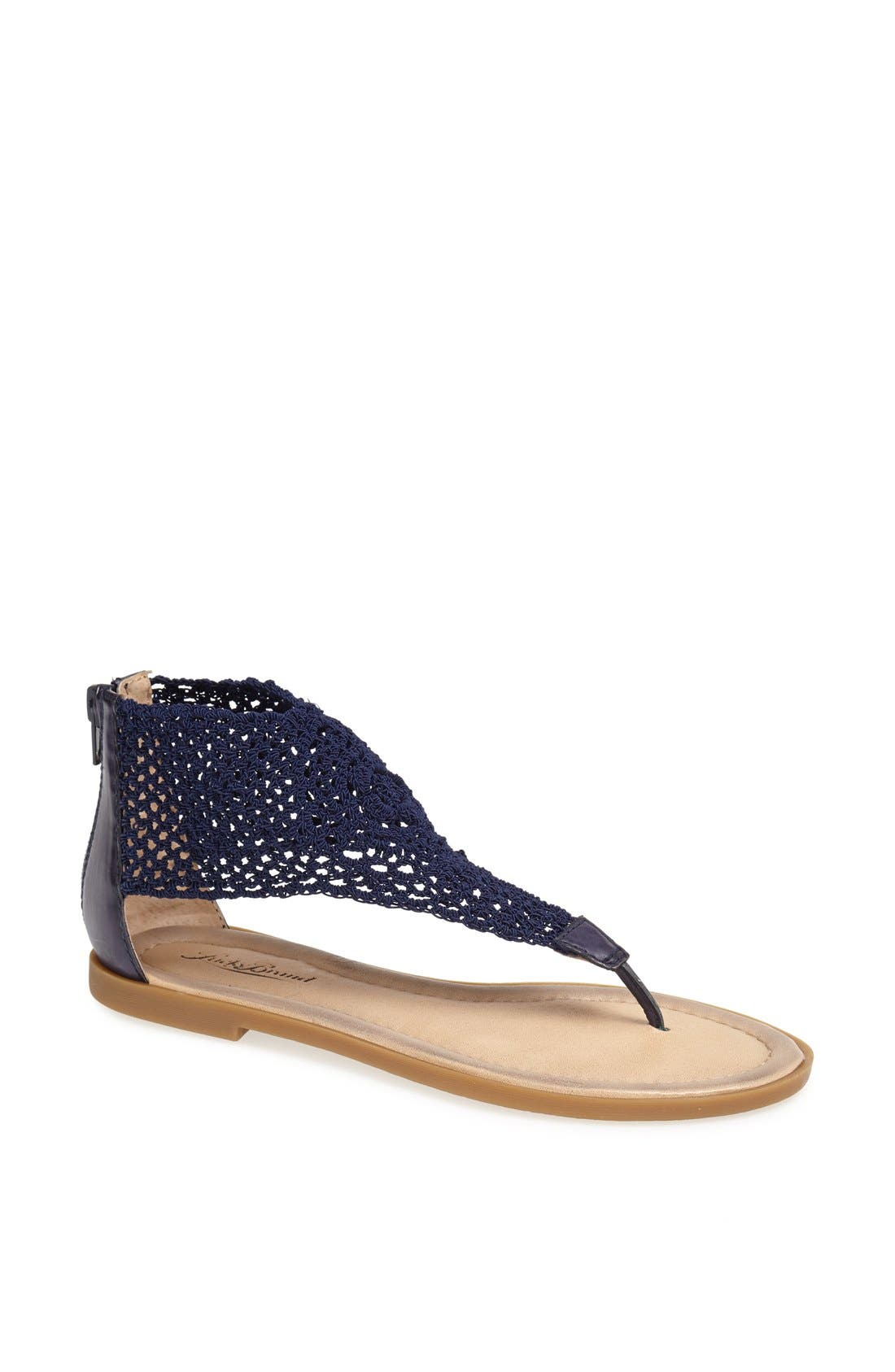 Alternate Image 1 Selected - Lucky Brand 'Cropley' Crochet Sandal