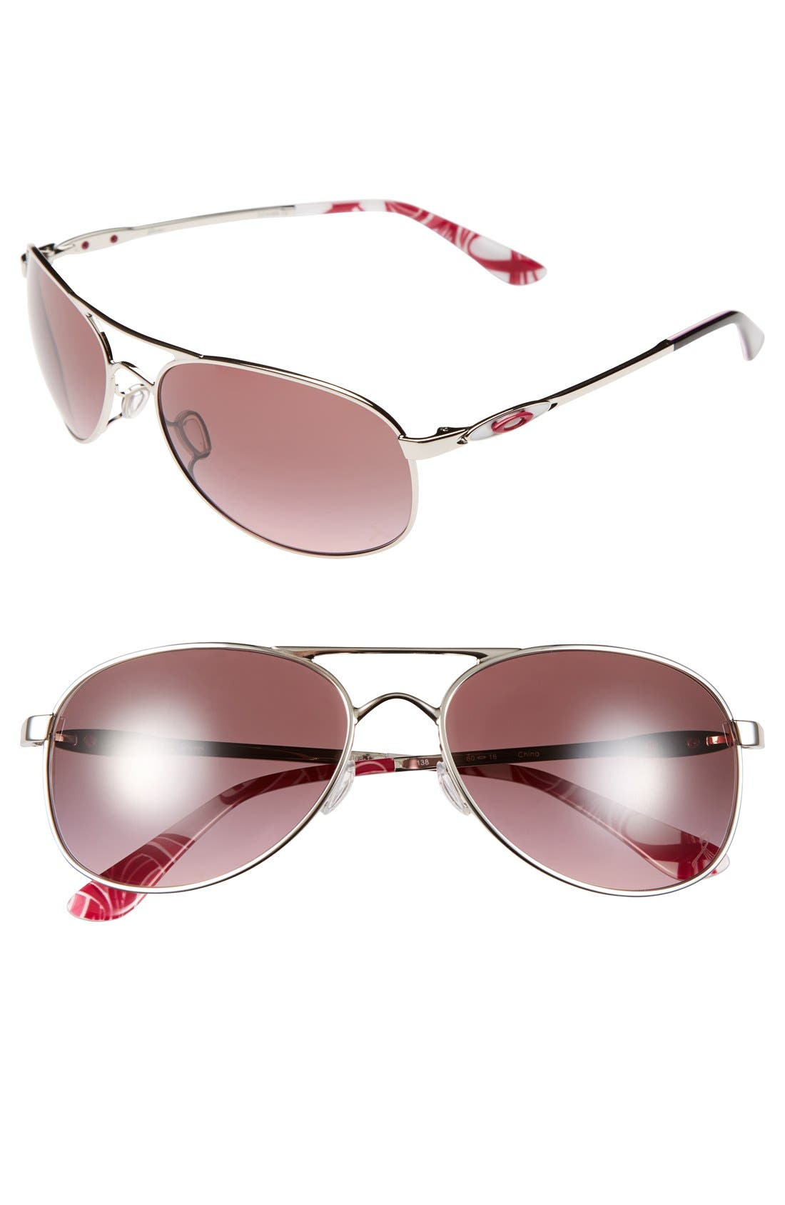 Alternate Image 1 Selected - Oakley 'Given' 60mm Sunglasses
