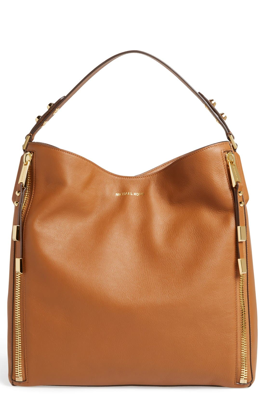 Alternate Image 1 Selected - Michael Kors 'Miranda - Zips' Leather Hobo