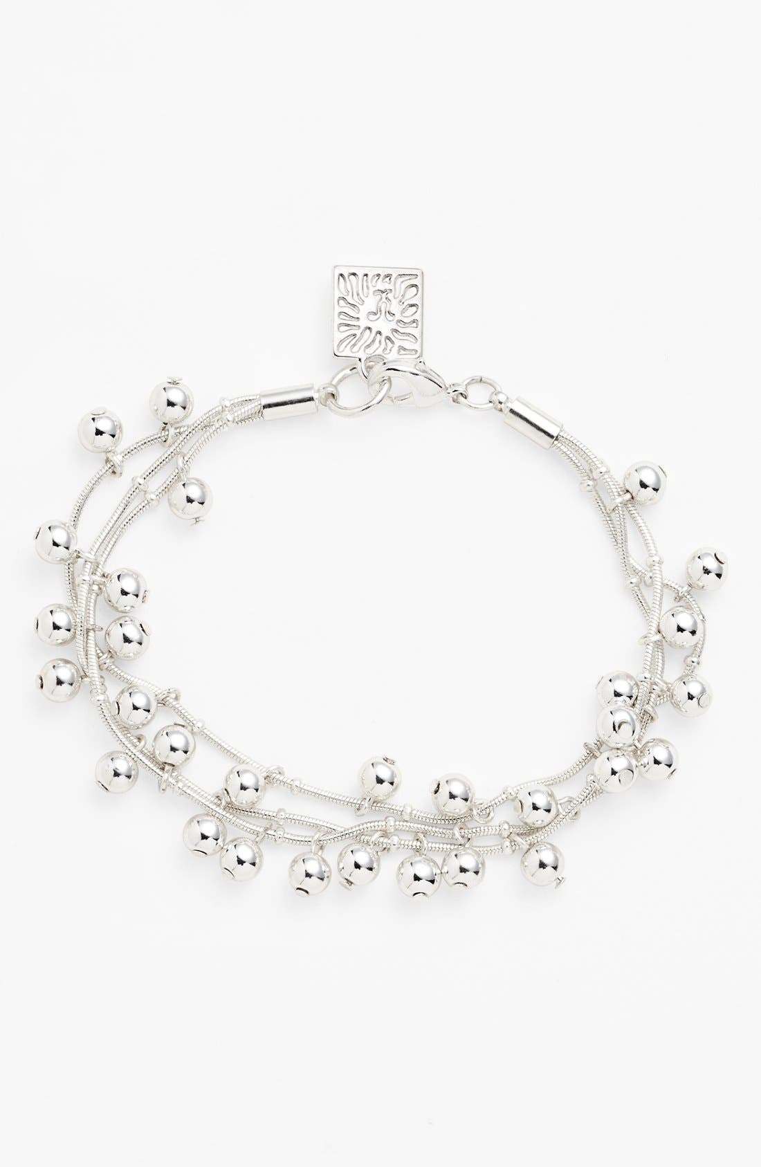 Alternate Image 1 Selected - Anne Klein Glass Pearl Three-Row Bracelet