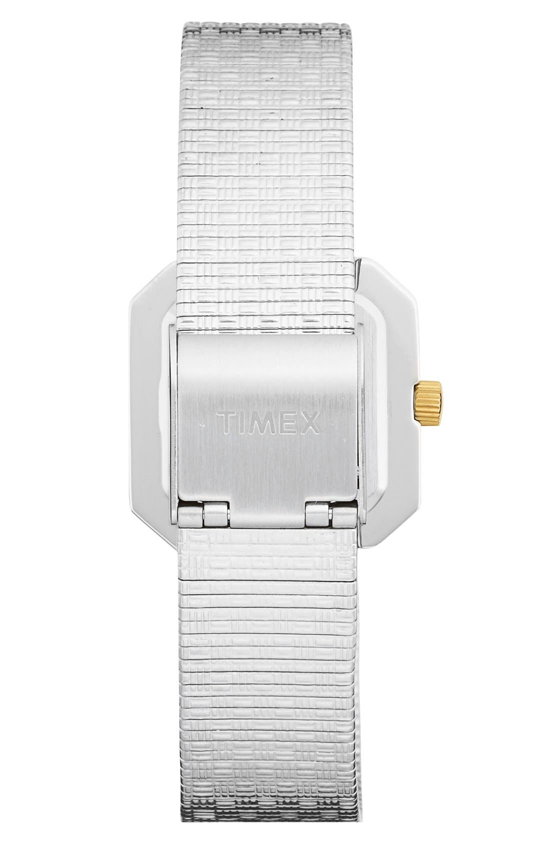 Alternate Image 2  - Timex® 'Starlight' Crystal Bezel Square Mesh Strap Watch, 25mm