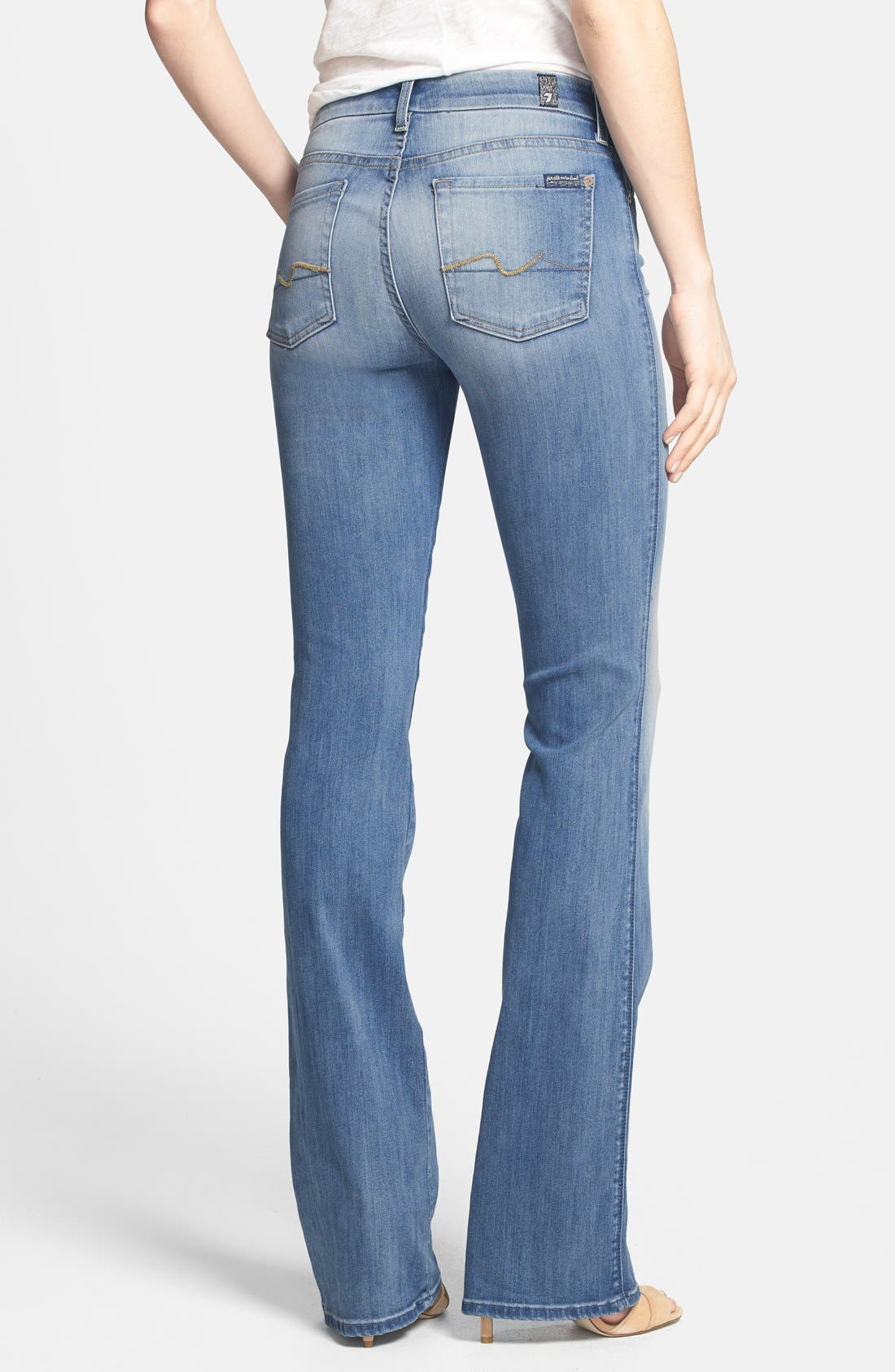 Alternate Image 2  - 7 For All Mankind® 'Kimmie' Bootcut Jeans (Light Cobalt Blue)