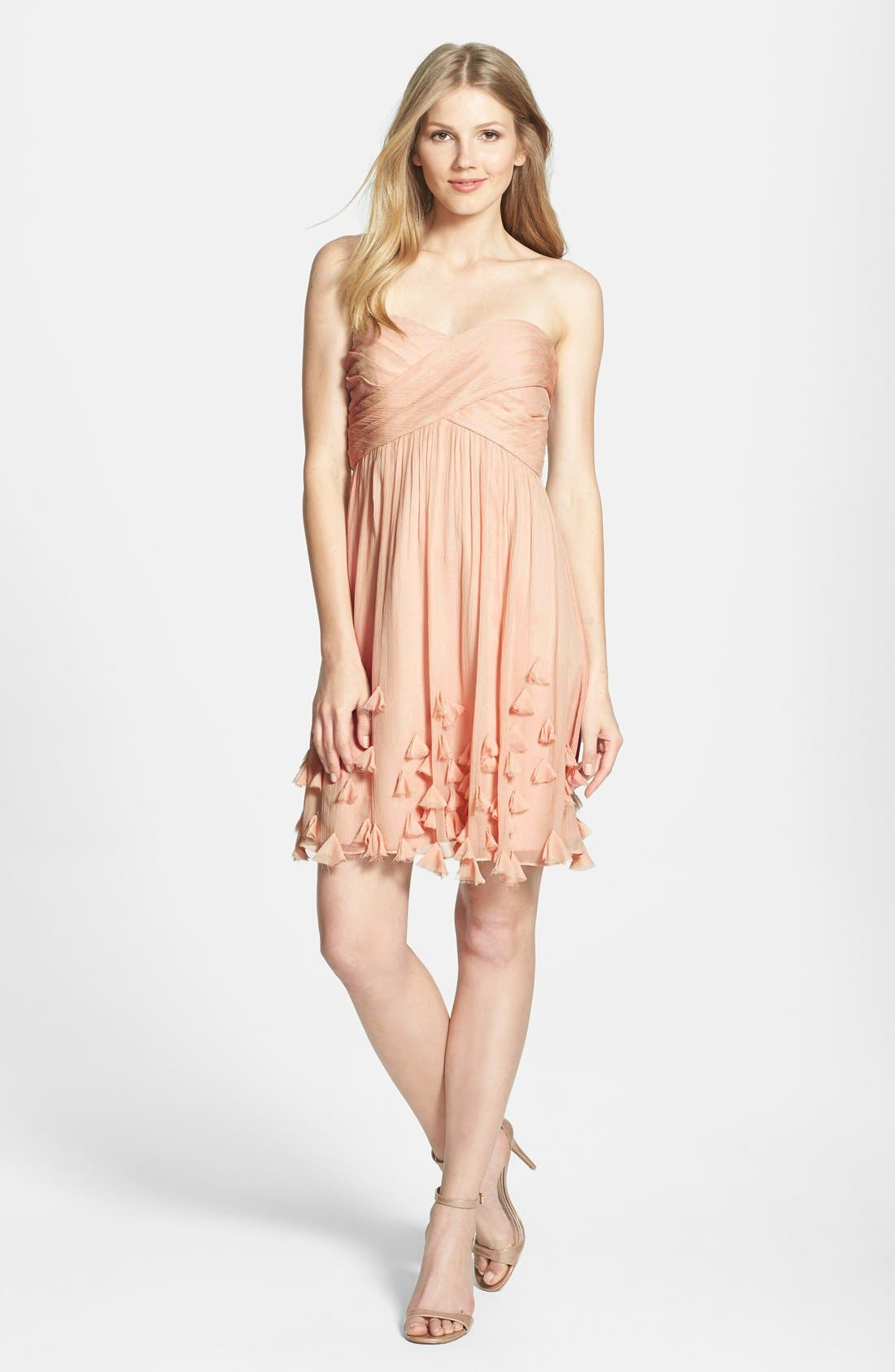 Main Image - Jenny Yoo Crinkled Silk Chiffon Dress