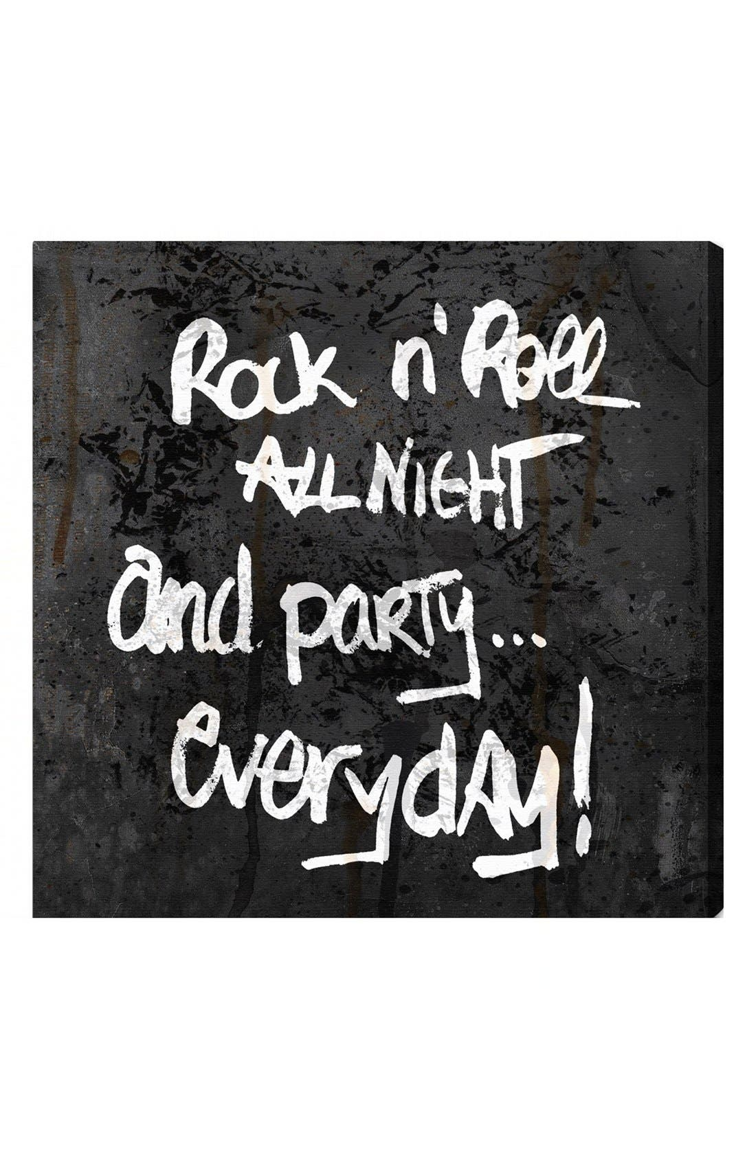 Alternate Image 1 Selected - Oliver Gal 'Rock 'n' Roll All Night and Party… Everyday!' Wall Art