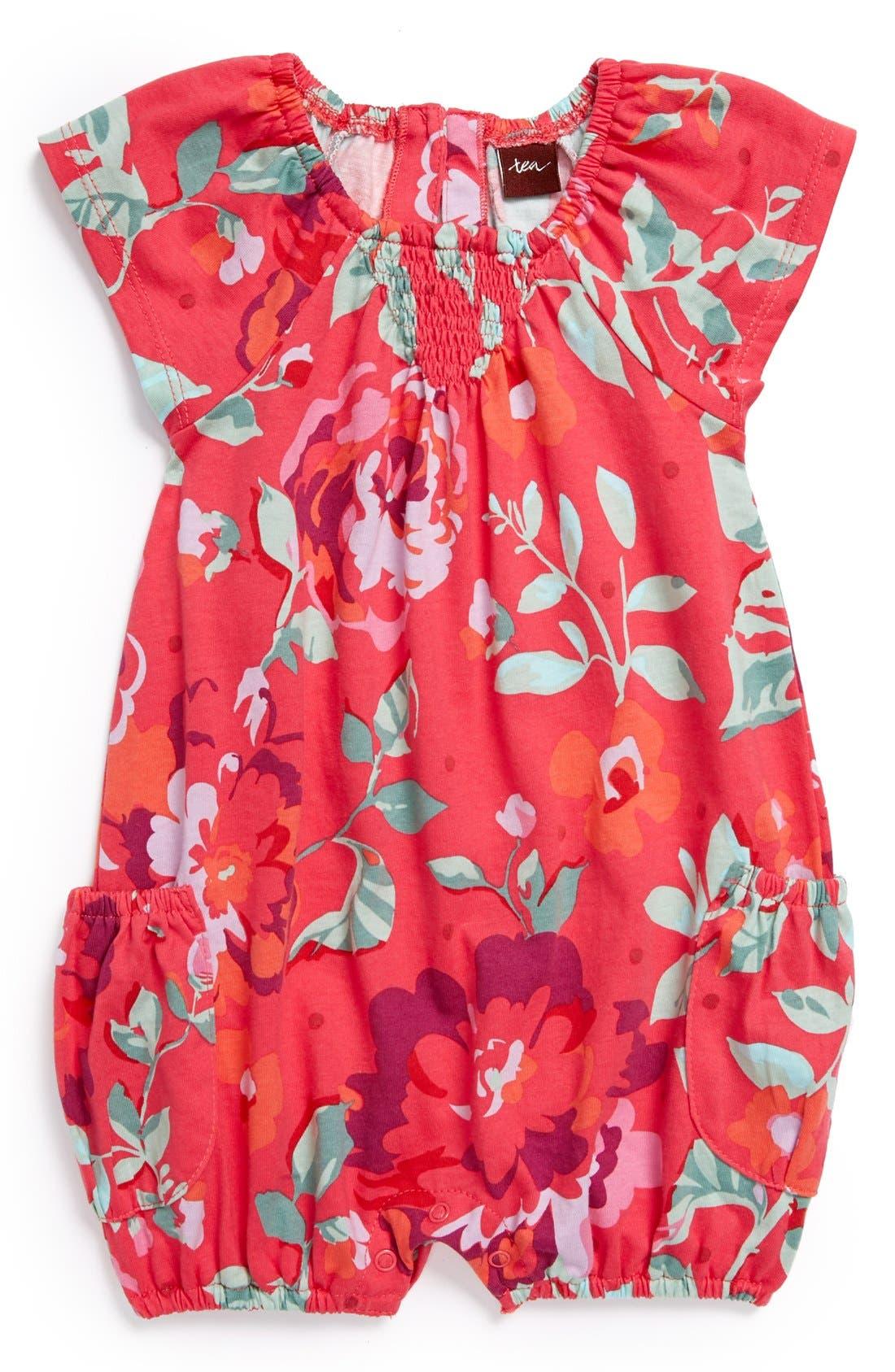 Main Image - Tea Collection 'Desert Rose' Bubble Romper (Baby Girls)