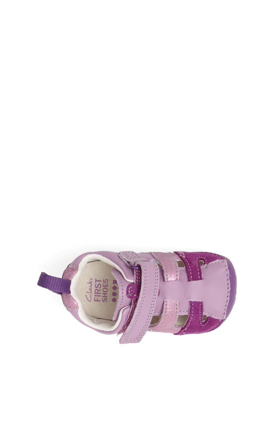 Alternate Image 3  - Clarks® 'Tiny Girl' Leather Sandal (Baby & Walker)
