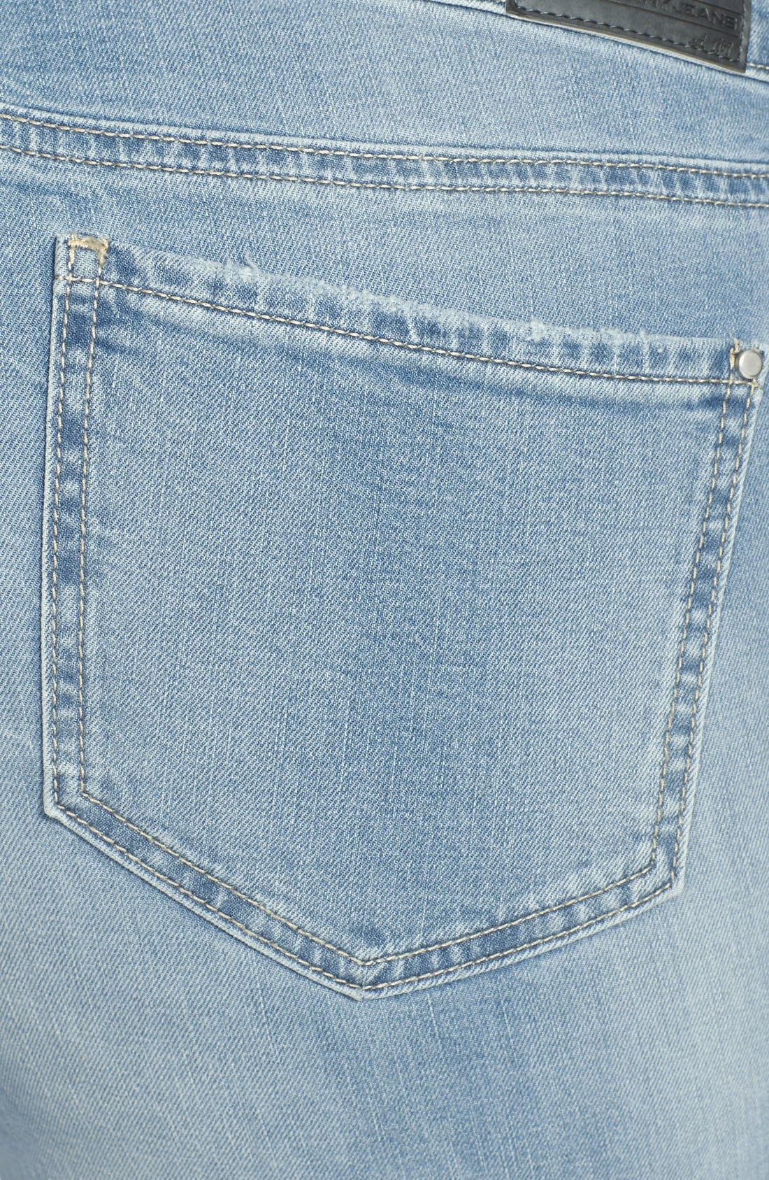 Alternate Image 3  - DKNY 'Bleecker' Boyfriend Jeans (Icy Brook) (Plus Size)