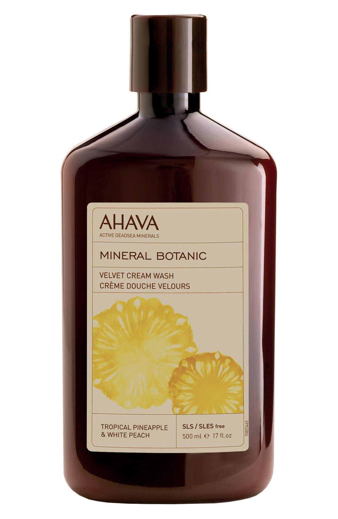 AHAVA 'Tropical Pineapple & White Peach' Mineral Botanic Velvet Cream Wash