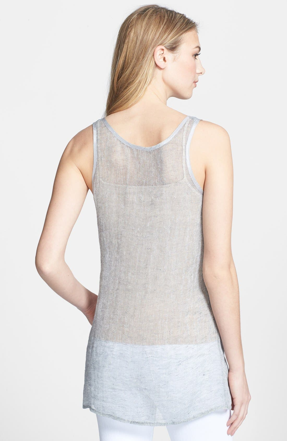 Alternate Image 2  - Eileen Fisher Linen Blend Scoop Neck Tunic (Regular & Petite)