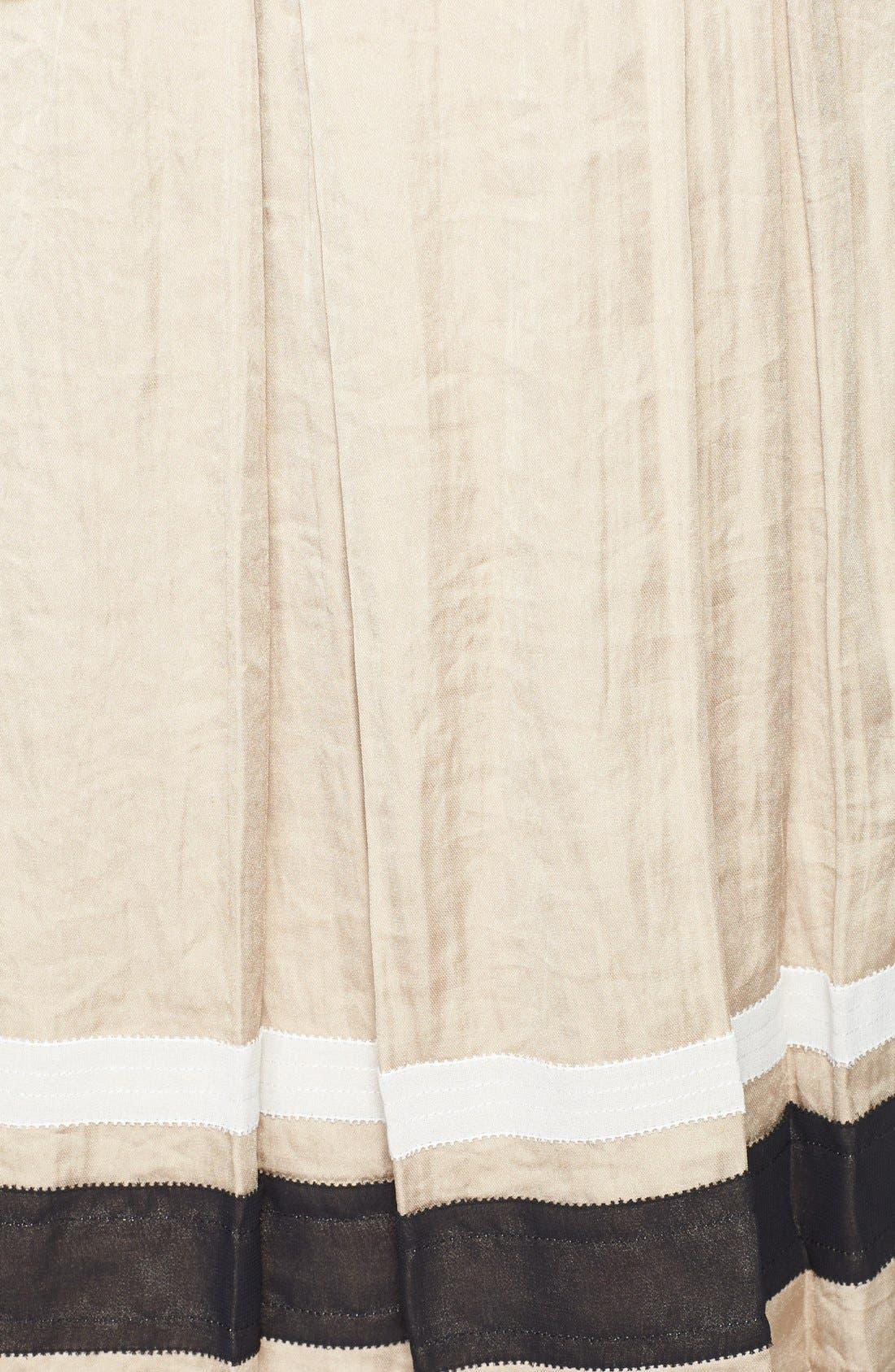 Alternate Image 3  - Chelsea28 Ribbon Trim Pleated Skirt