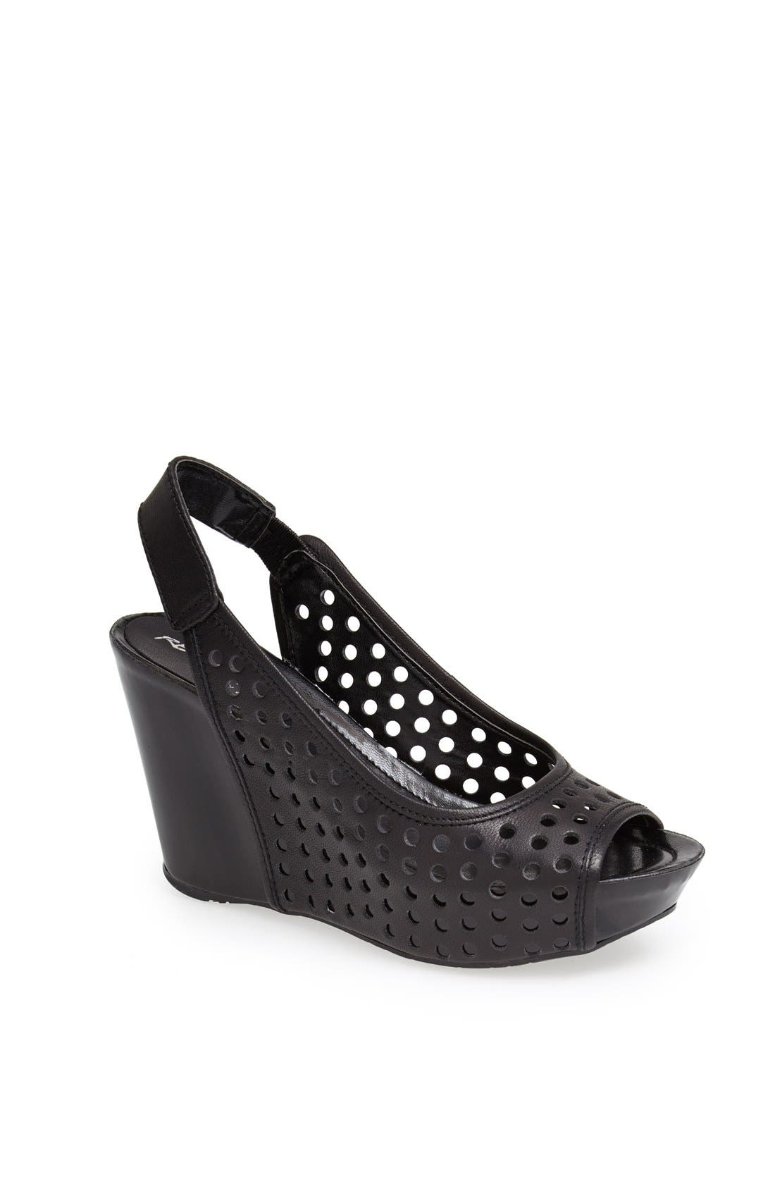 Alternate Image 1 Selected - Kenneth Cole Reaction 'Soley Roller 3' Perforated Slingback Sandal