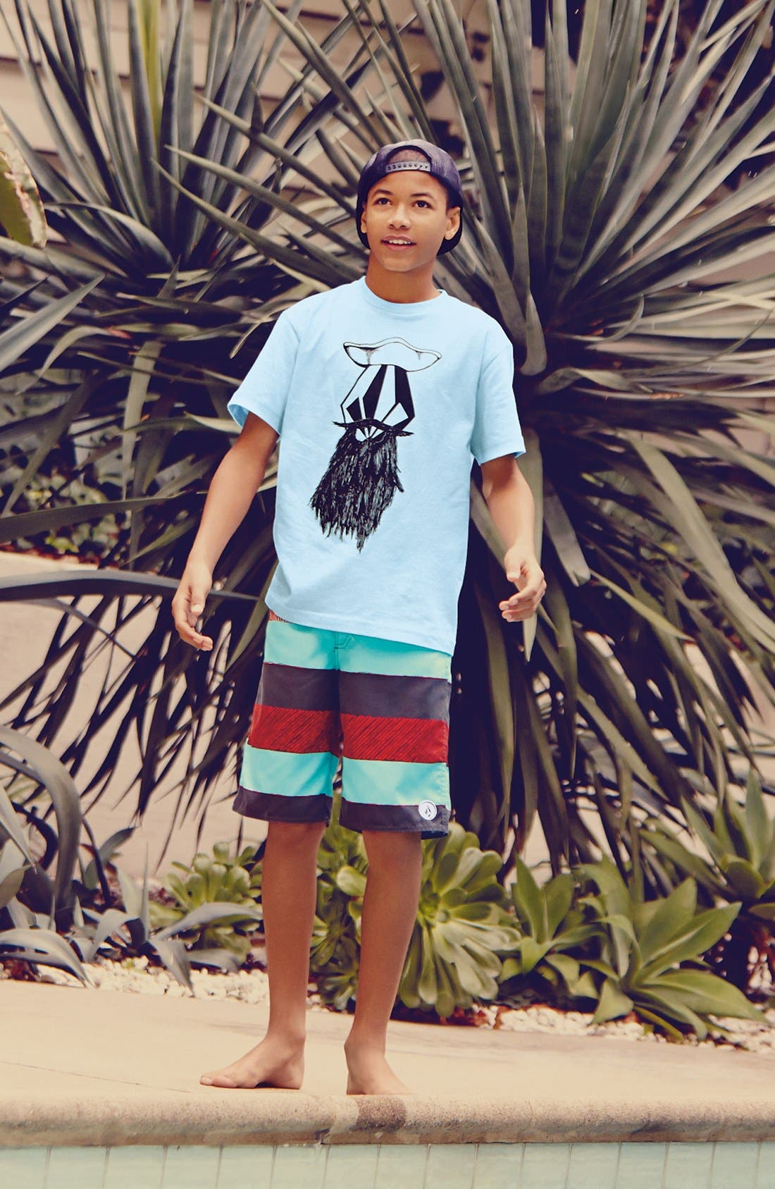 Alternate Image 1 Selected - Volcom T-Shirt & Board Shorts (Big Boys)